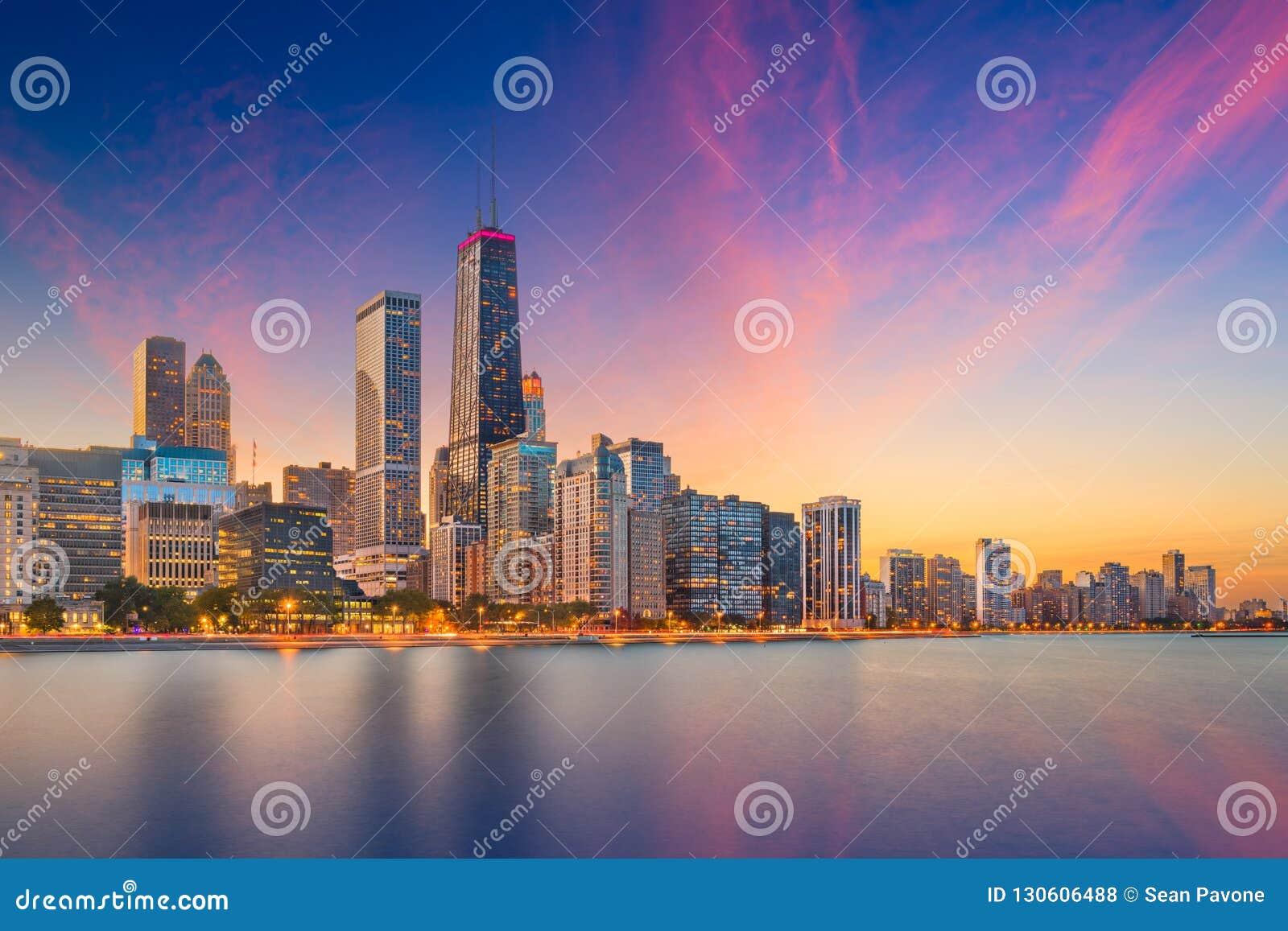 Het Meerhorizon van Chicago, Illinois, de V.S.