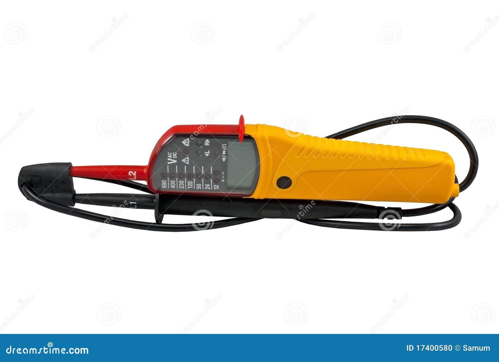 Het meetapparaat van het voltage