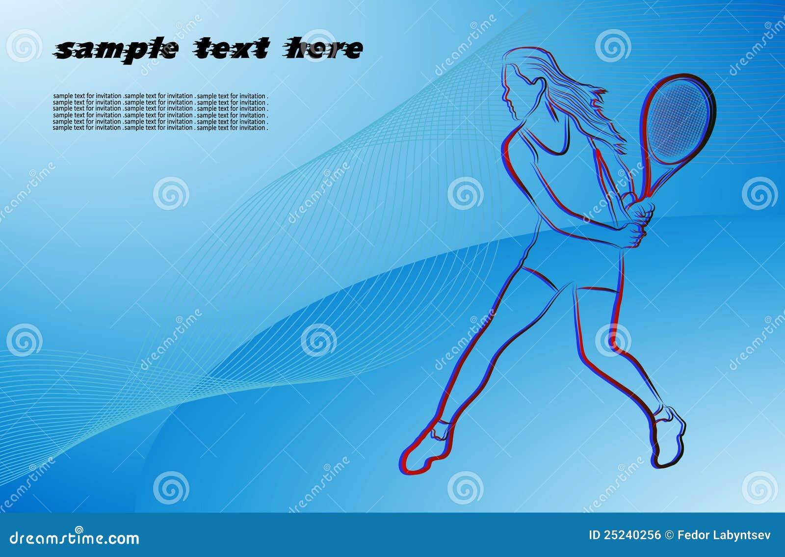 Het meisje met een tennisracket royalty vrije stock afbeelding beeld 25240256 - Beeld het meisje van ...