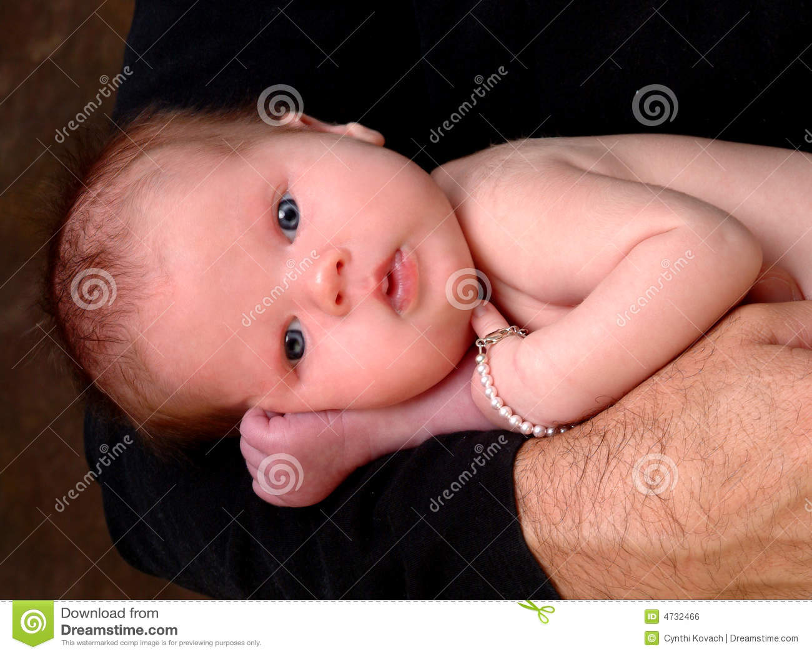 Het Meisje van de baby met Blauwe Ogen