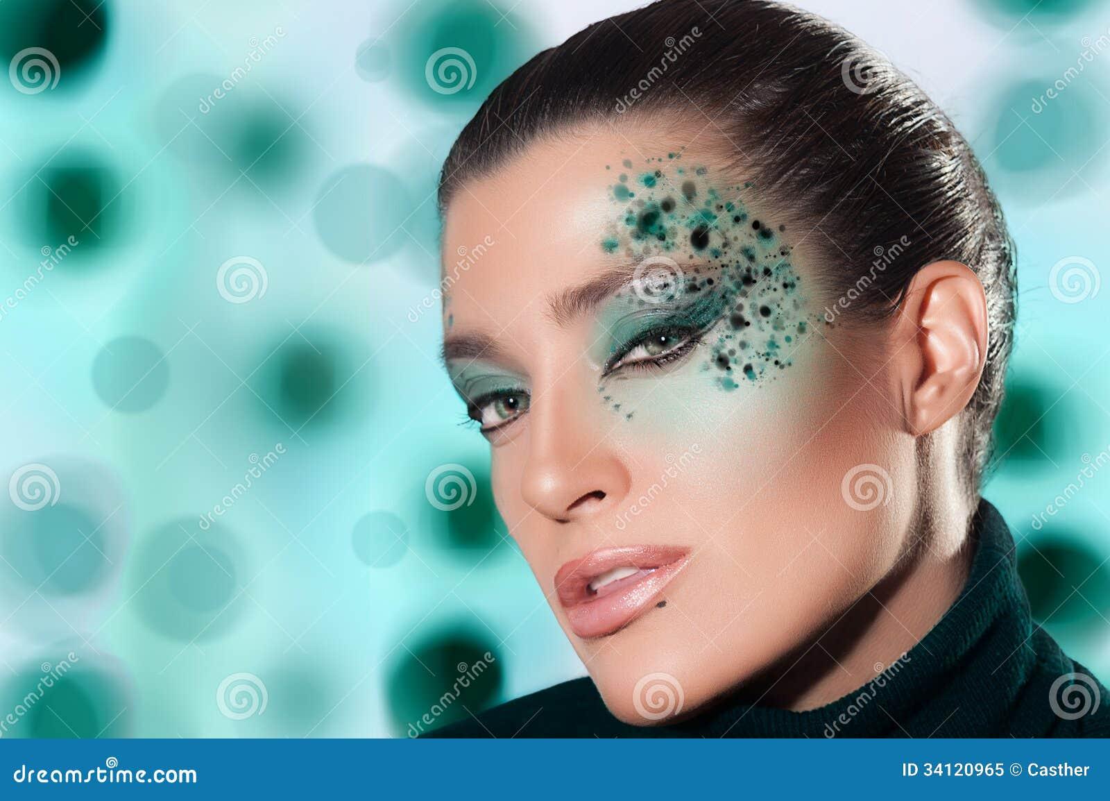Het meisje van de schoonheidsmanier met fantasiemake up royalty vrije stock foto beeld 34120965 - Beeld het meisje van ...