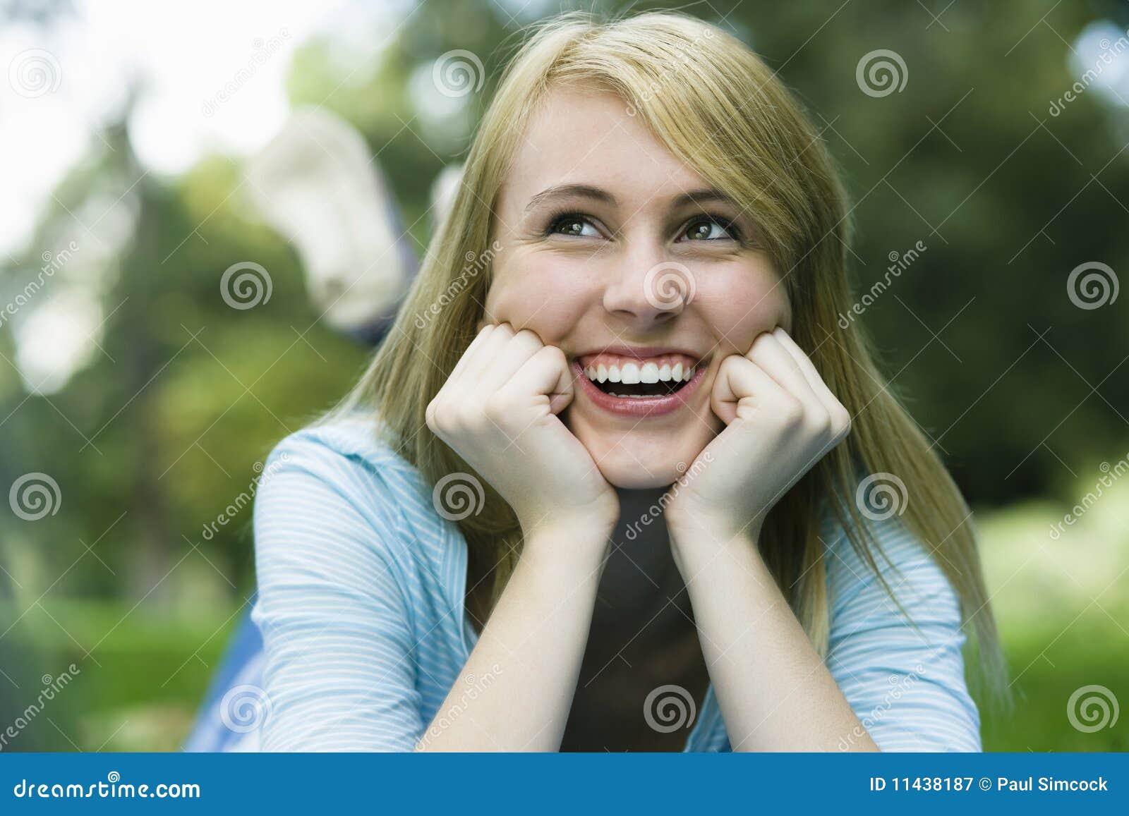 Het meisje van de tiener royalty vrije stock fotografie afbeelding 11438187 - Ruimtekleur tiener meisje ...