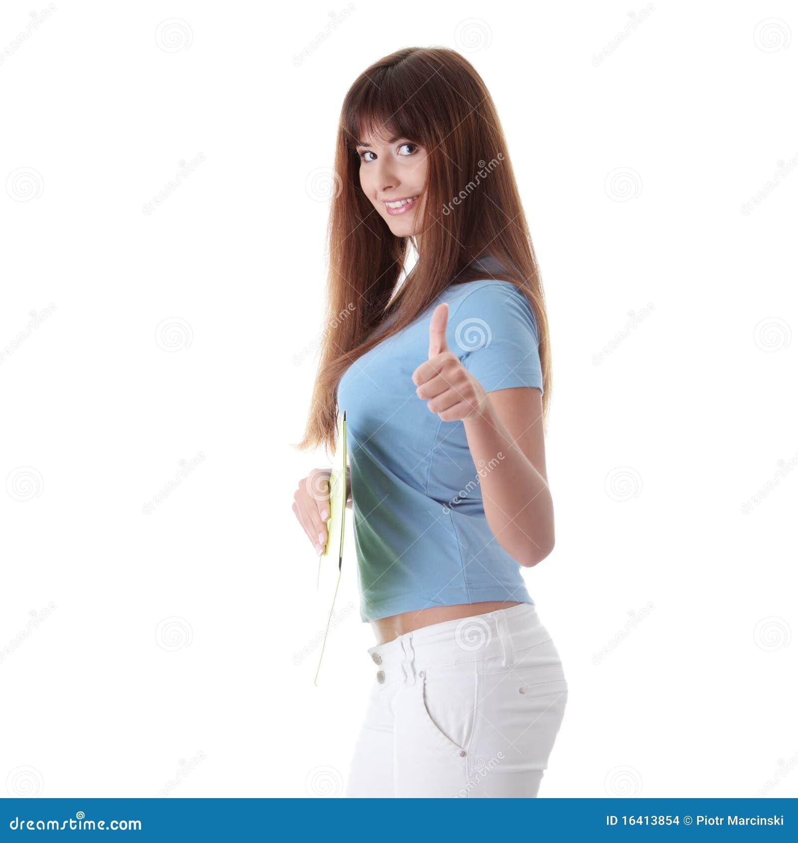 Het meisje van de tiener stock afbeeldingen afbeelding 16413854 - Het versieren van de tiener kamer ...