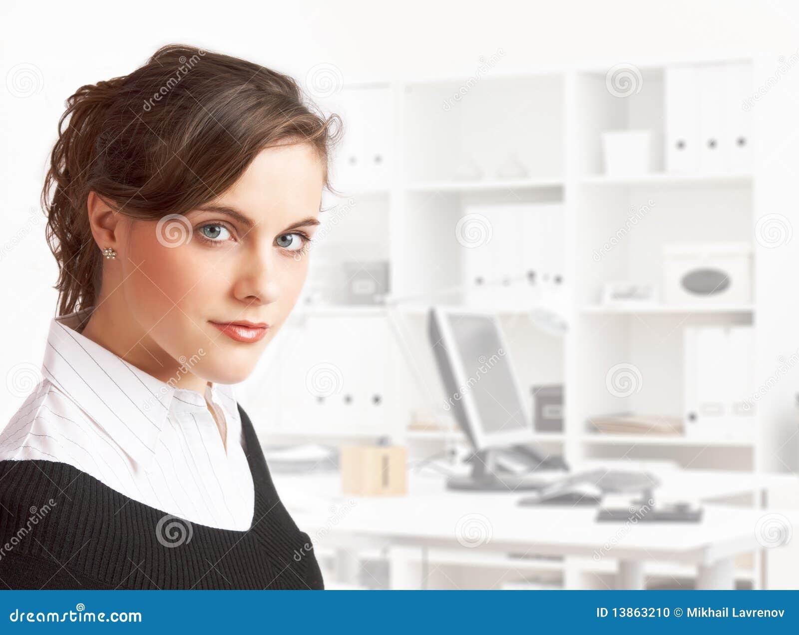 Het meisje van het bureau