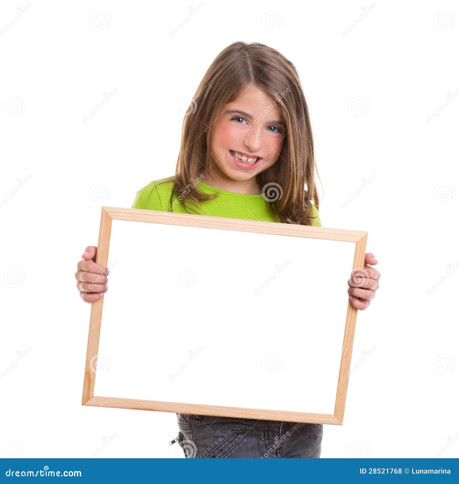 Het meisje van het kind met wit frame exemplaar ruimte wit bord stock foto afbeelding 28521768 - Ruimte van het meisje parket ...