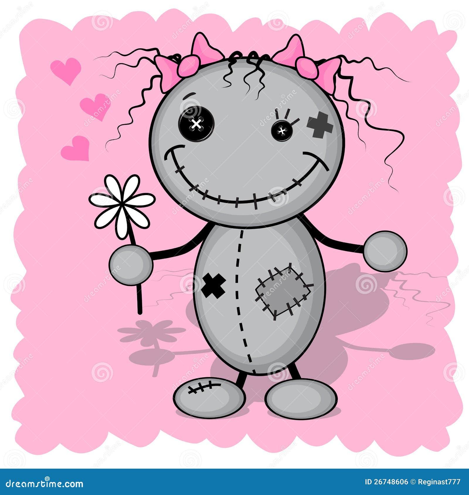 Het meisje van het monster met een bloem