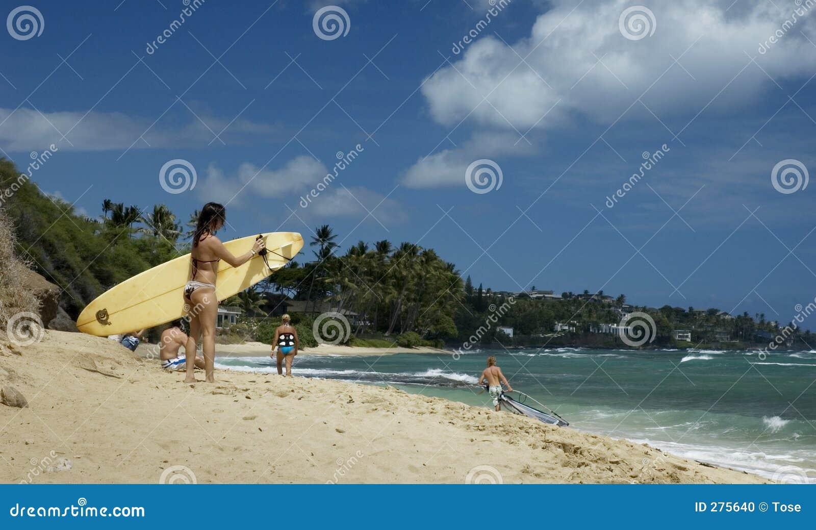 Het meisje van Surfer