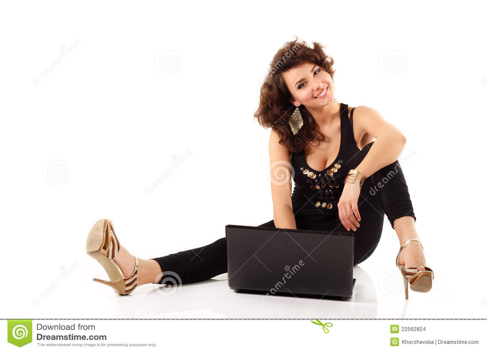 Het meisjes leuk vrolijk studing notitieboekje van de tiener stock foto afbeelding 22562824 - Het versieren van de tiener kamer ...