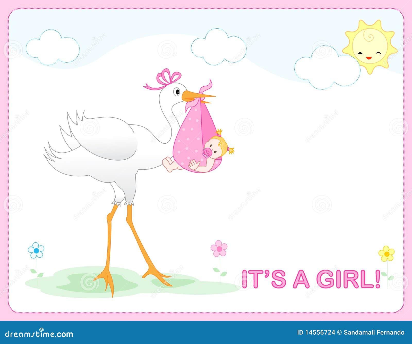 Het meisjesaankomst van de baby