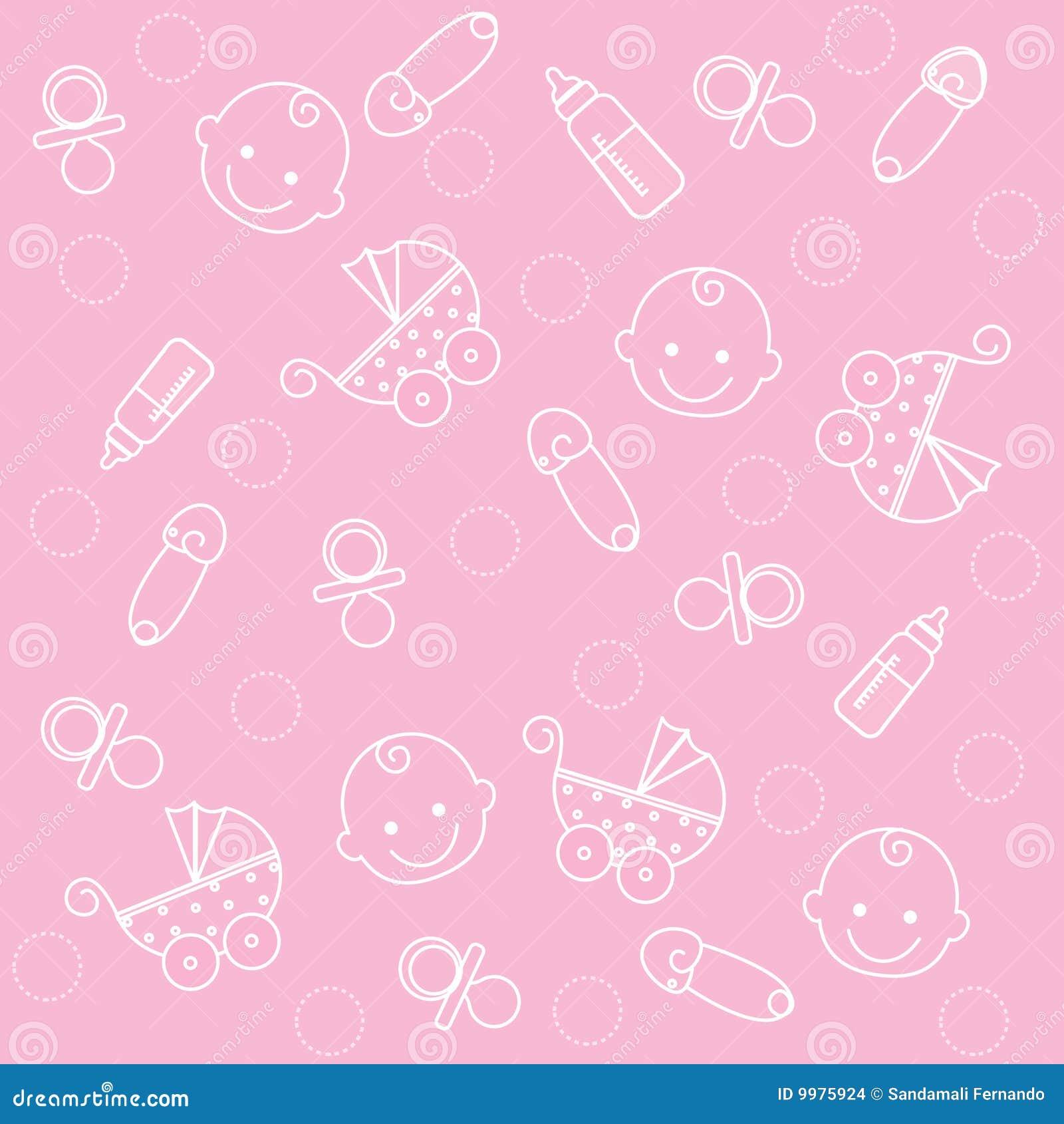 Het meisjesachtergrond van de baby