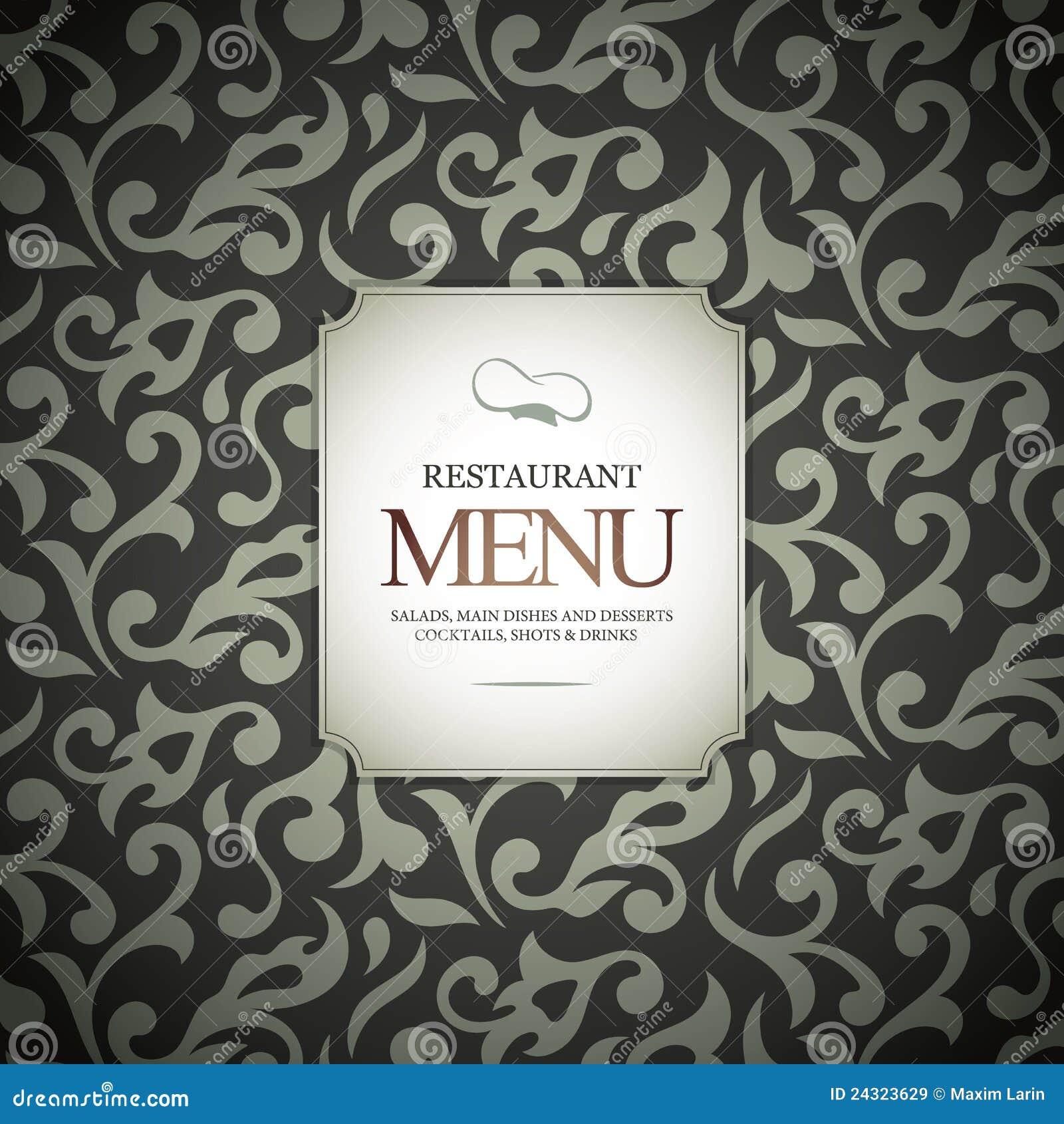 Het menuontwerp van het restaurant