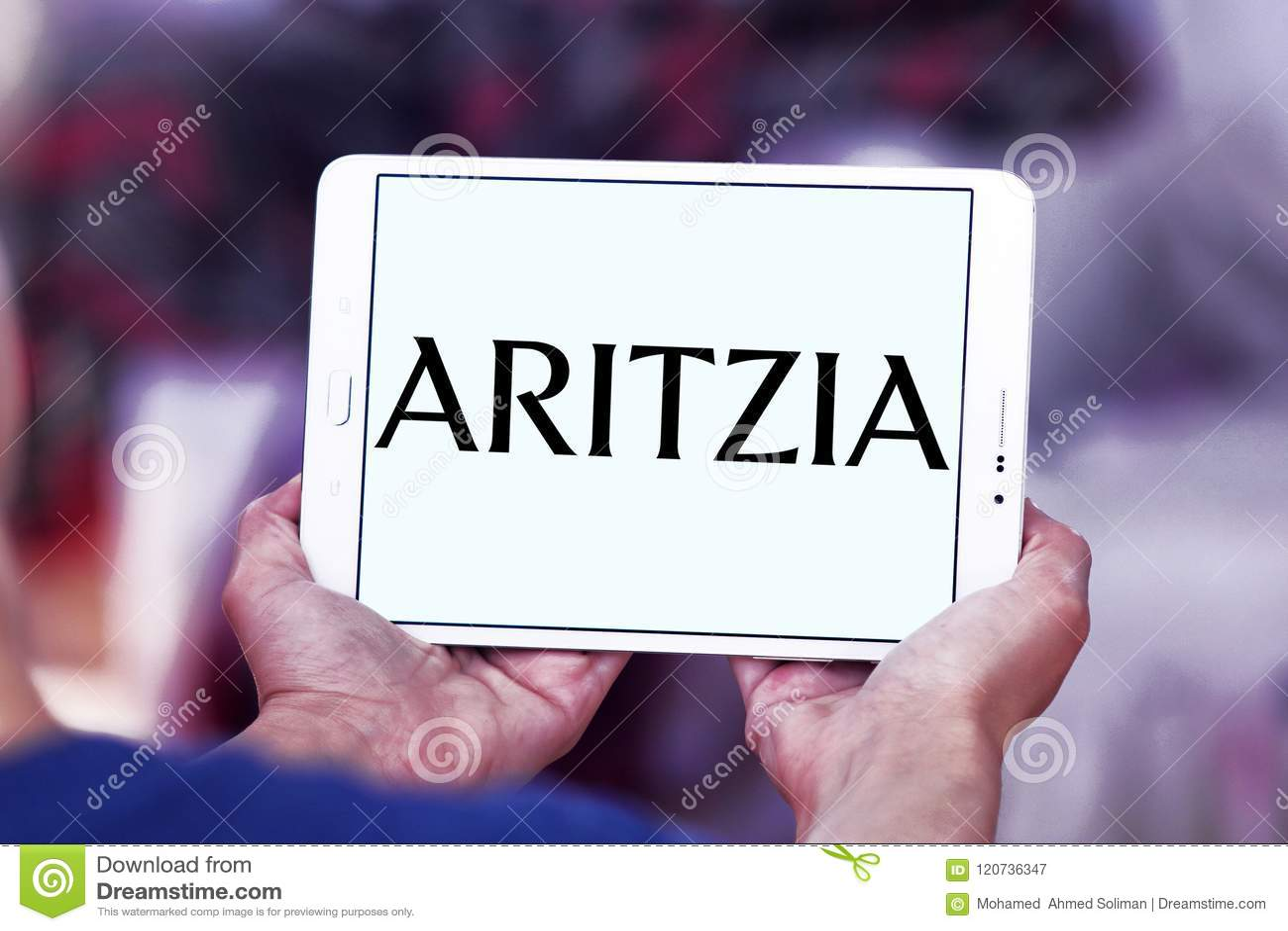 Het merkembleem van de Aritziamanier