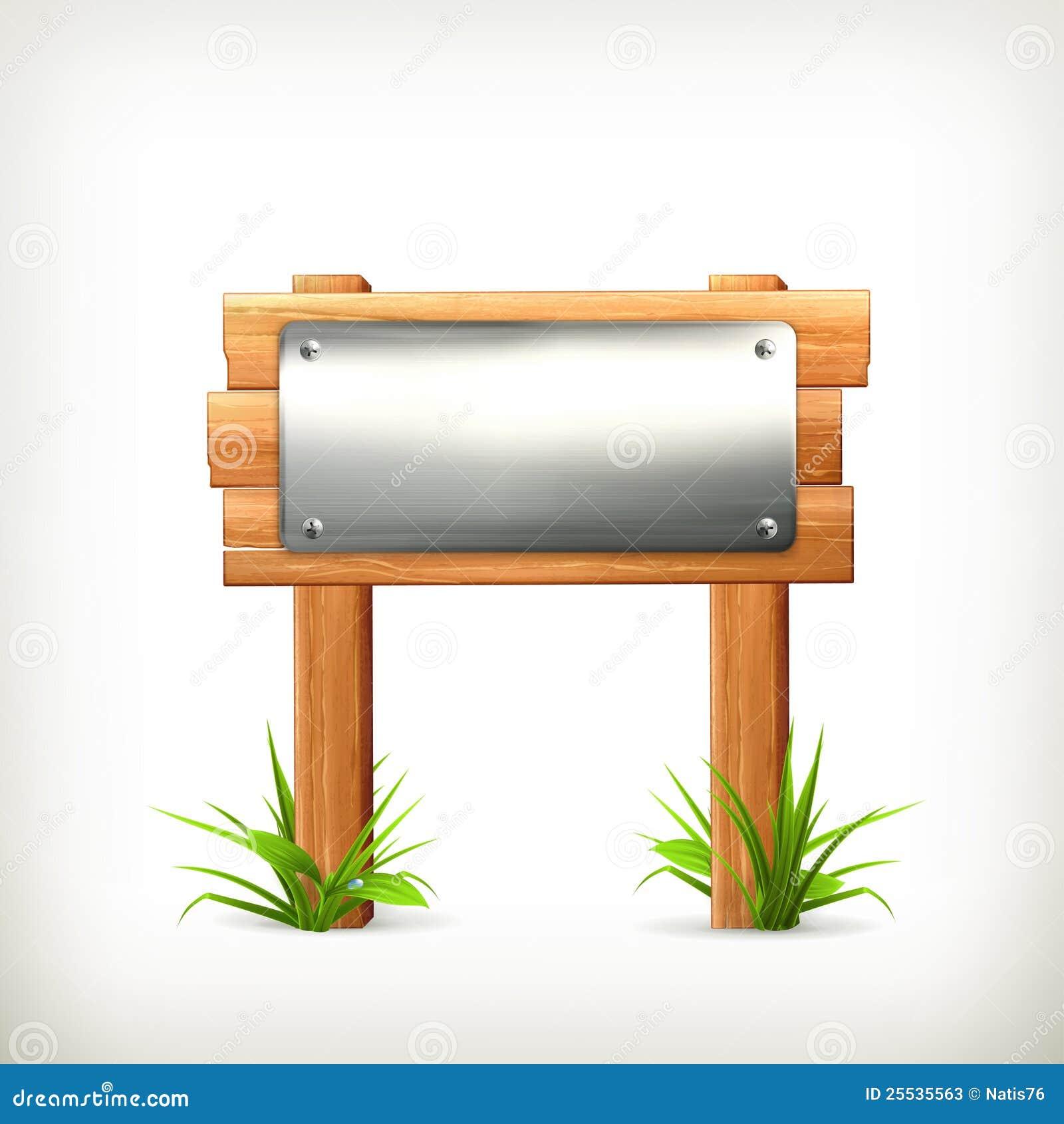 het metaal en het hout van het uithangbord stock foto 39 s afbeelding 25535563. Black Bedroom Furniture Sets. Home Design Ideas