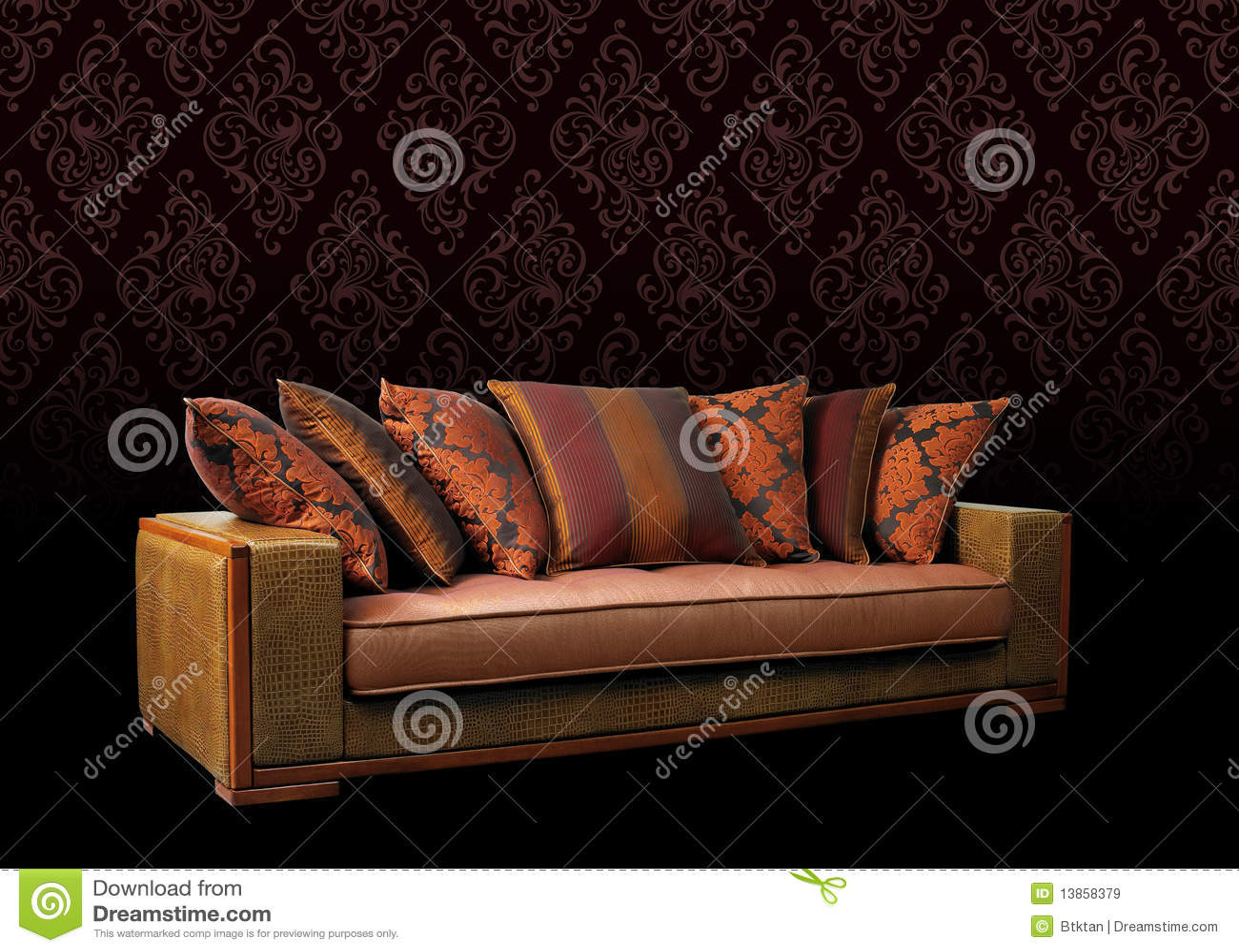 Het meubilair van de bank royalty vrije stock afbeeldingen afbeelding 13858379 - Meubilair van de ingang spiegel ...