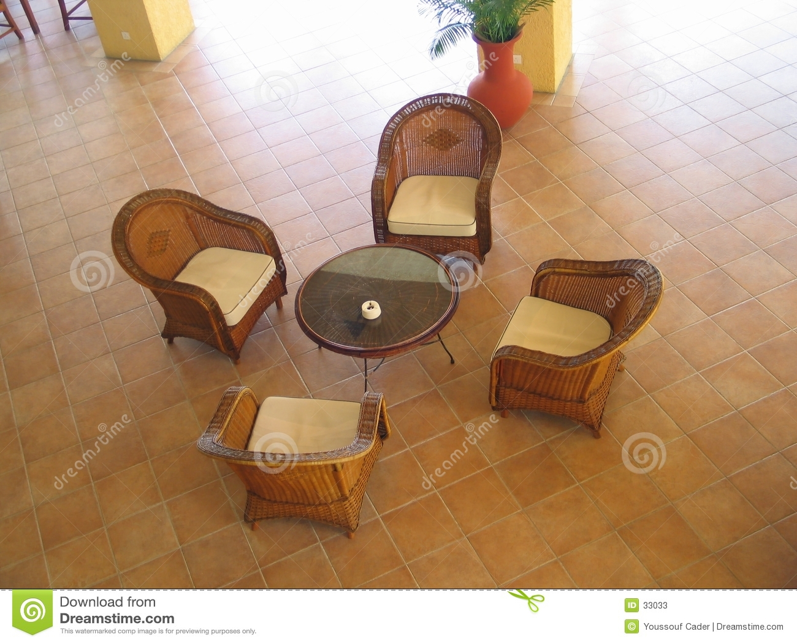 Het meubilair van de rotan