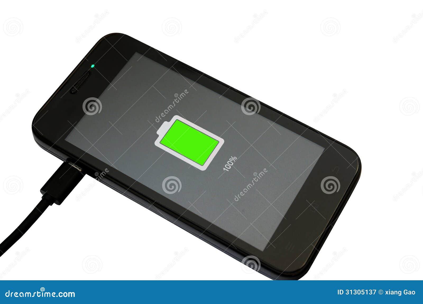 Het mobiele telefoon laden