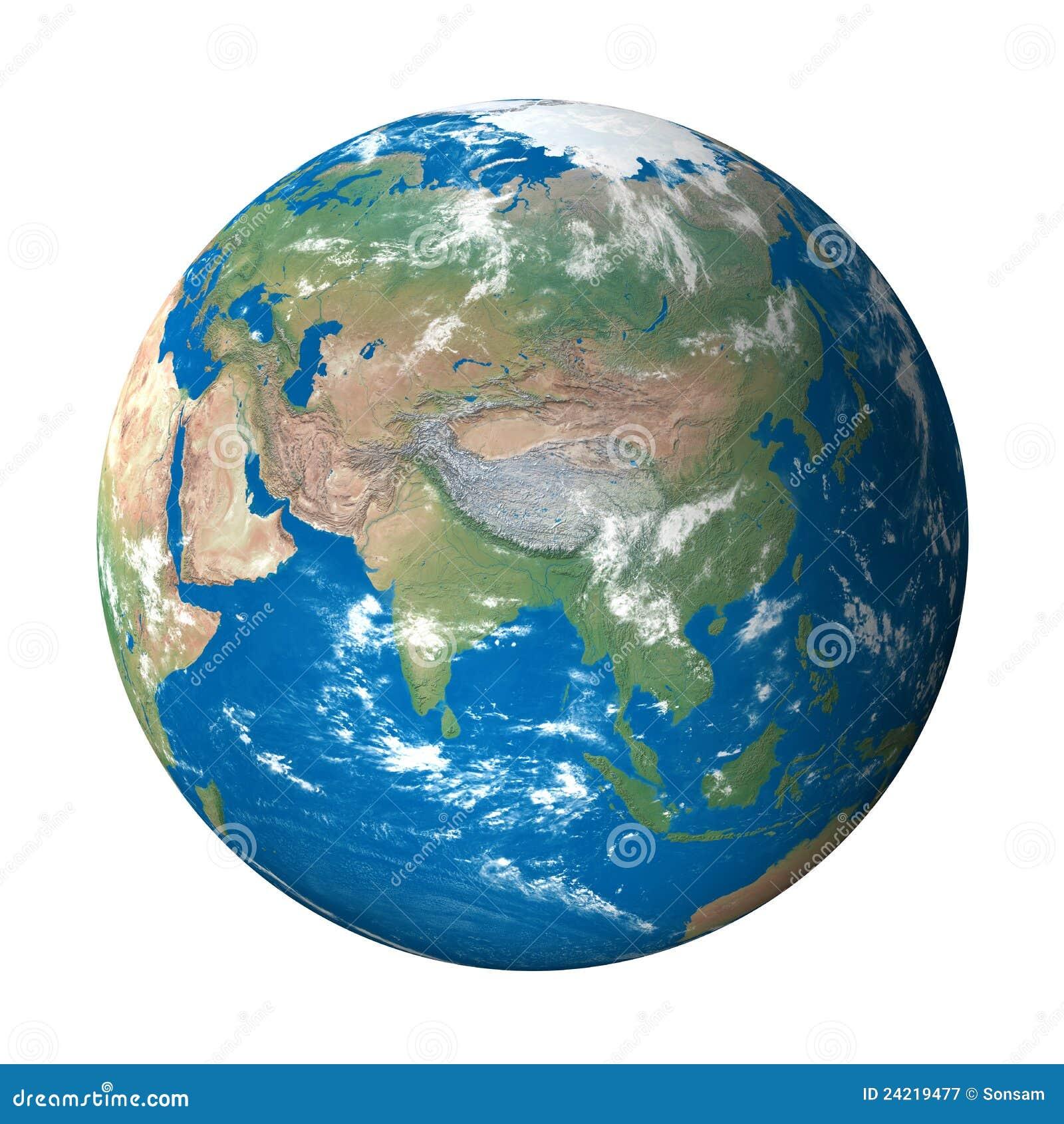 Het Model van de aarde van Ruimte: De Mening van Azië