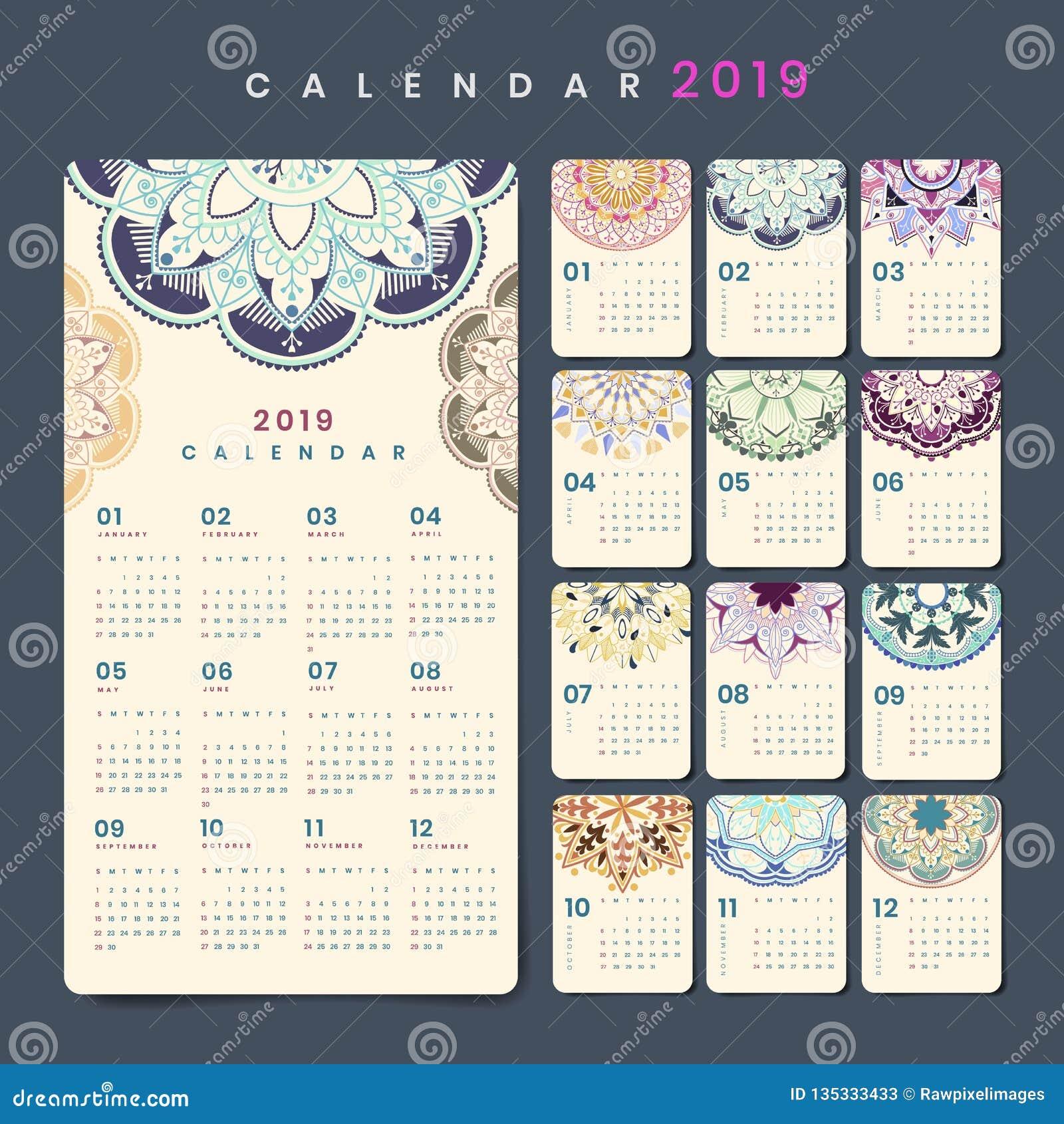 Het model van de Mandalakalender