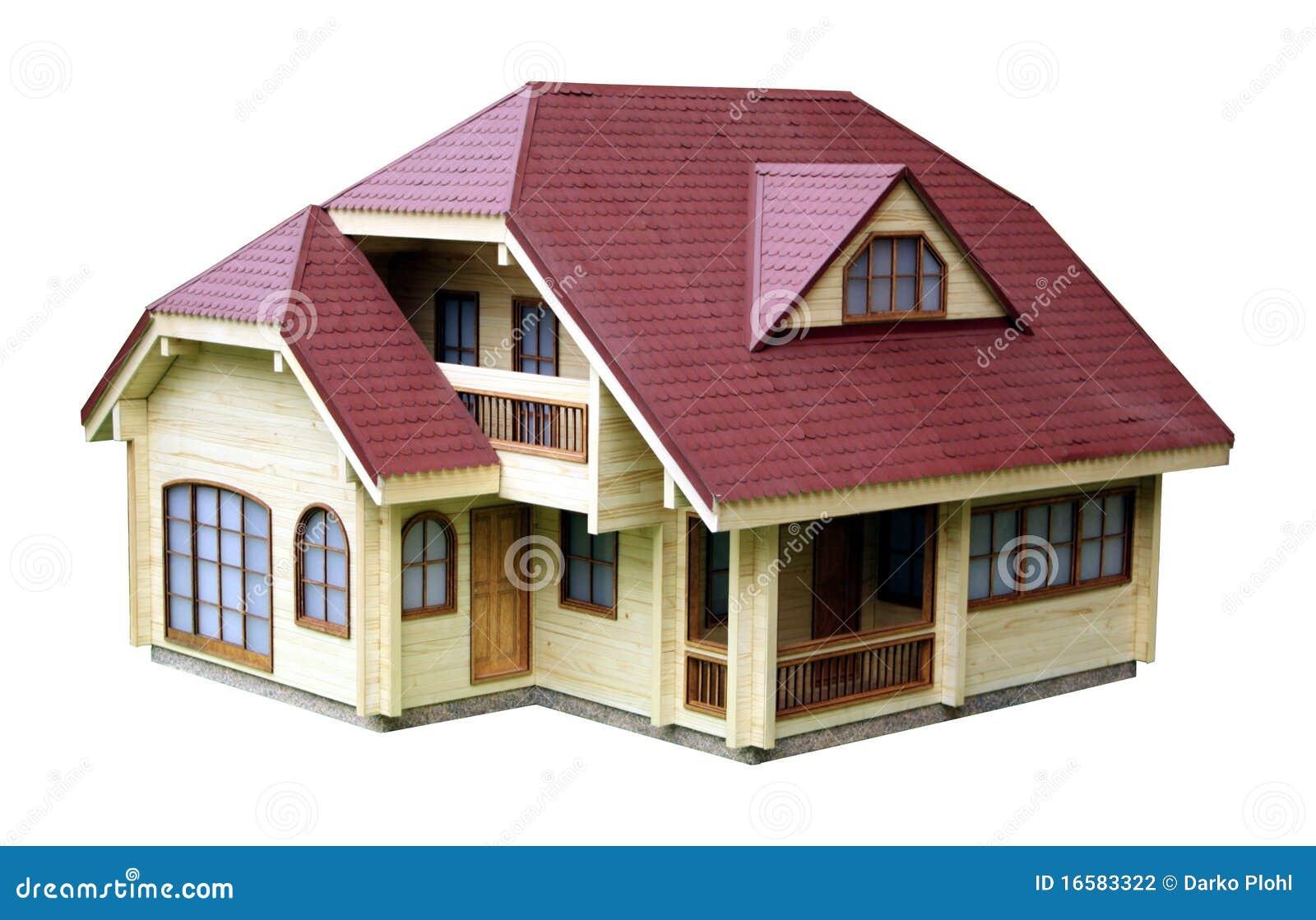 Het model van het huis stock fotografie afbeelding 16583322 - Huis exterieur model ...