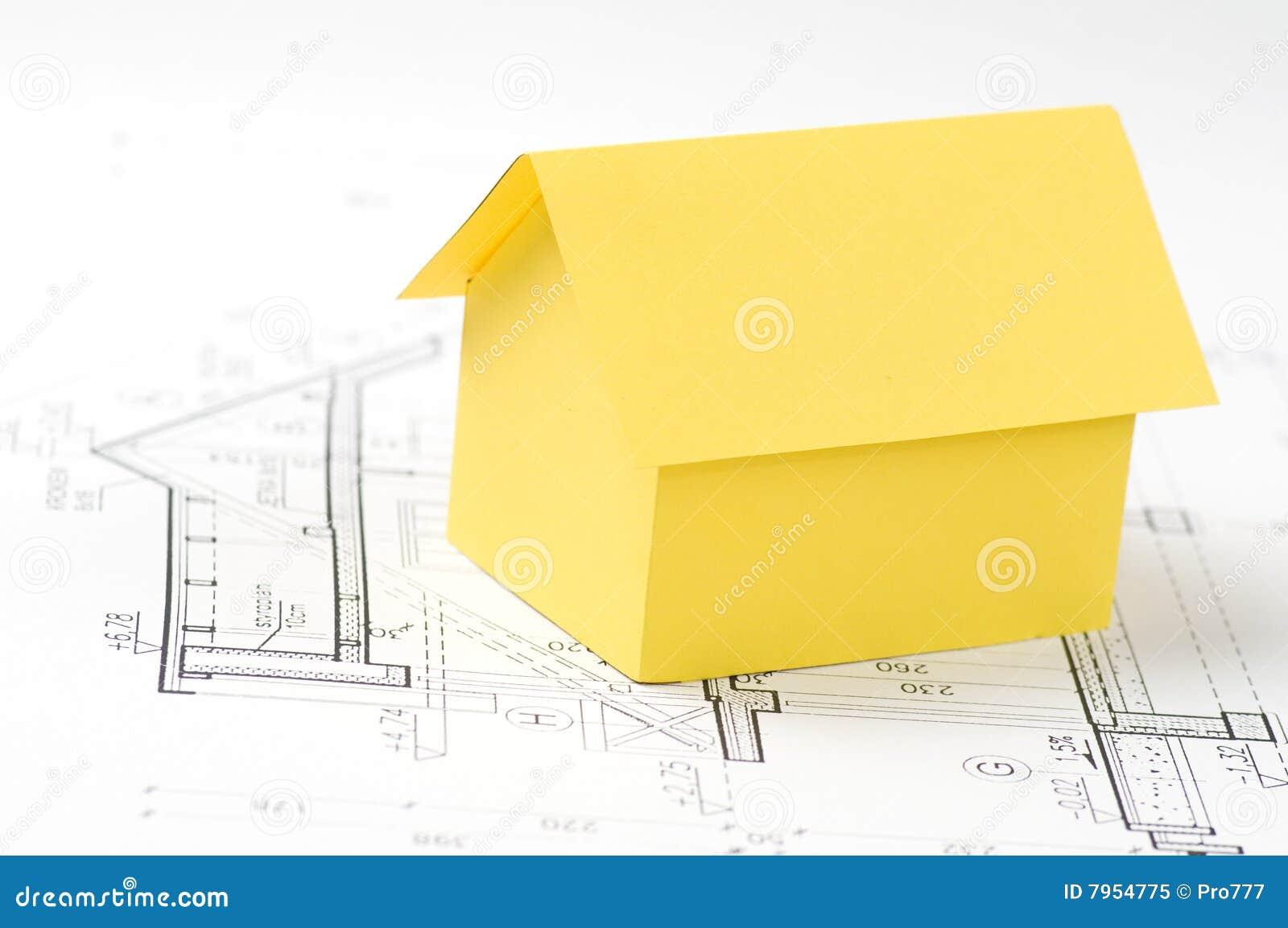 Het model van het huis stock afbeelding afbeelding bestaande uit illustratie 7954775 - Model van huisarchitectuur ...