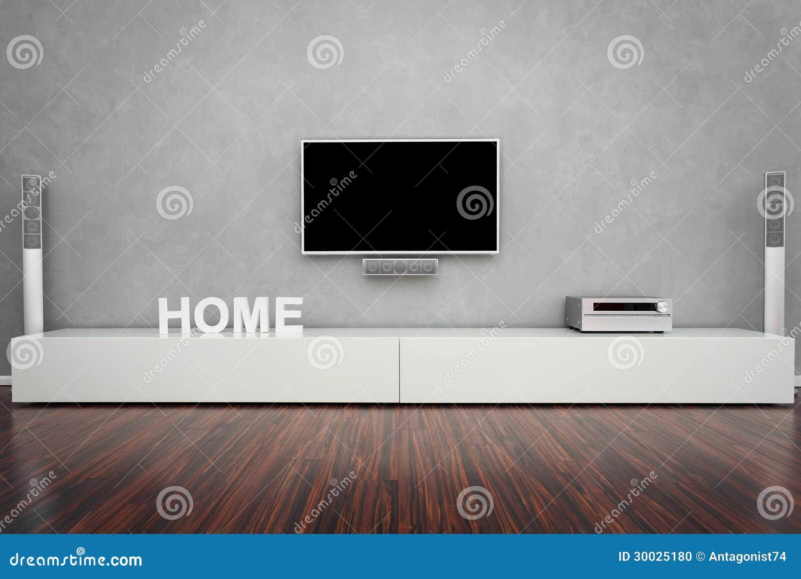 Moderne woonkamer met beige leerleunstoel en zwarte muur stock ...