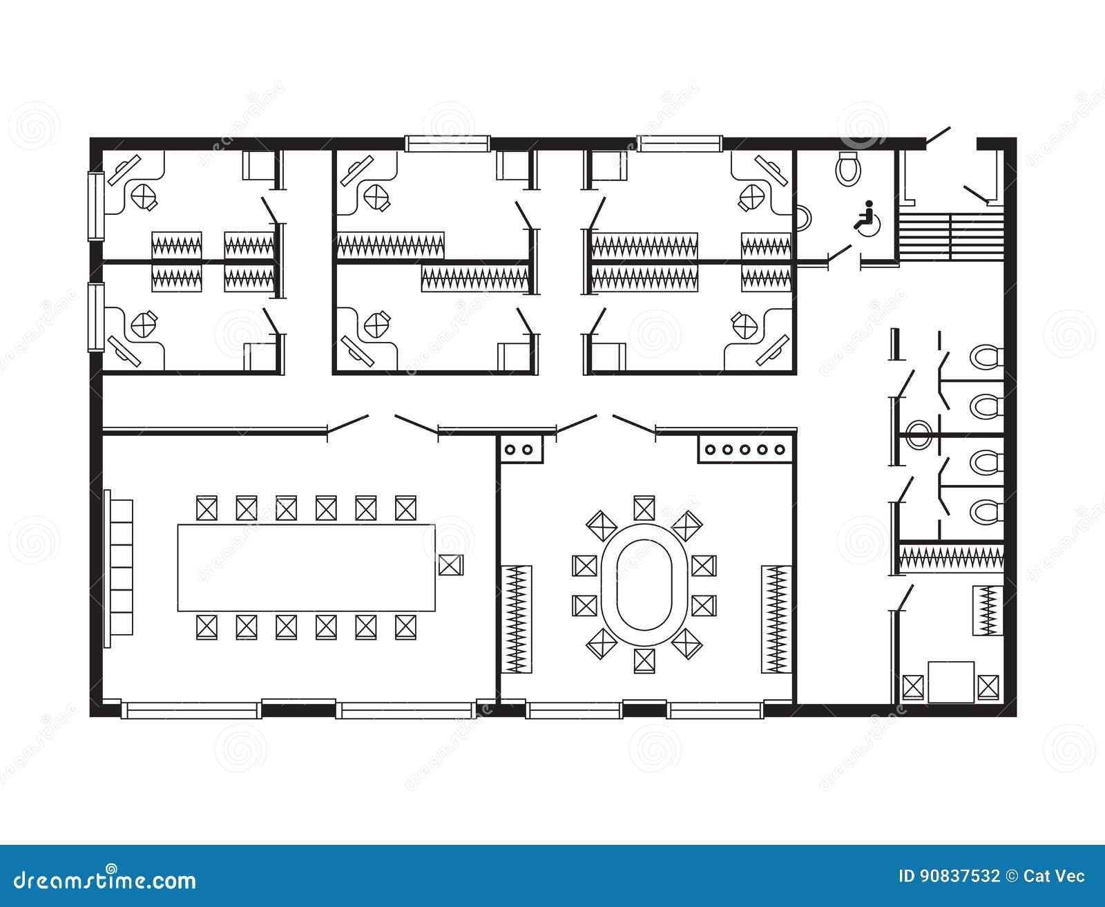 het moderne het meubilair en de bouwproject van de ontwerptekening van het bureau architecturale. Black Bedroom Furniture Sets. Home Design Ideas