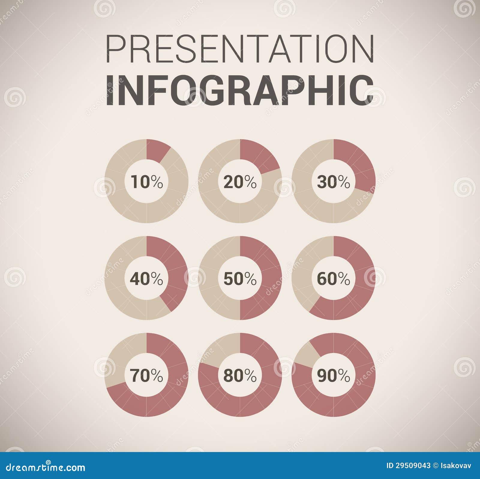 Het moderne zachte malplaatje/infographics van het kleurenOntwerp