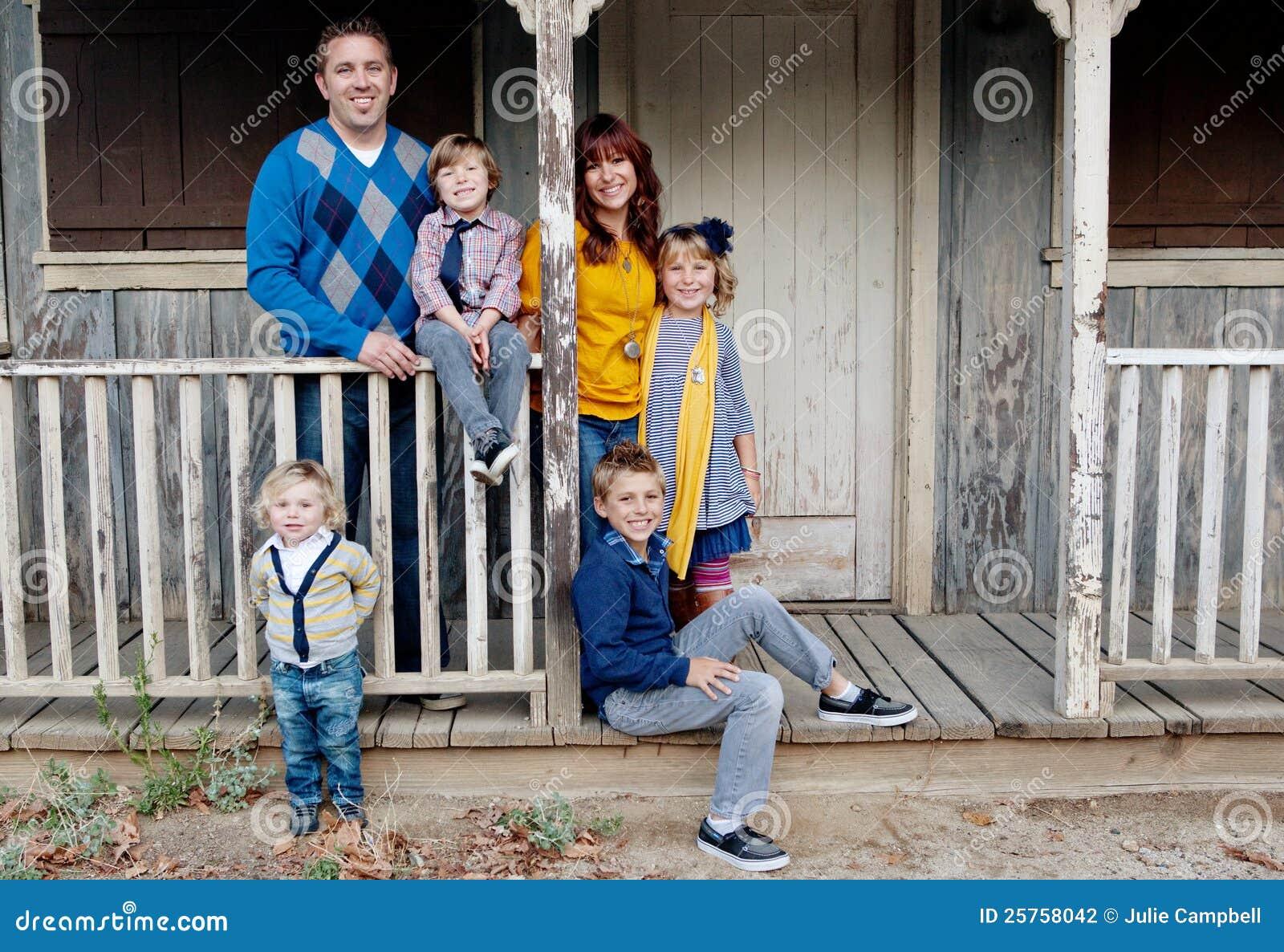 Het modieuze Portret van de Familie