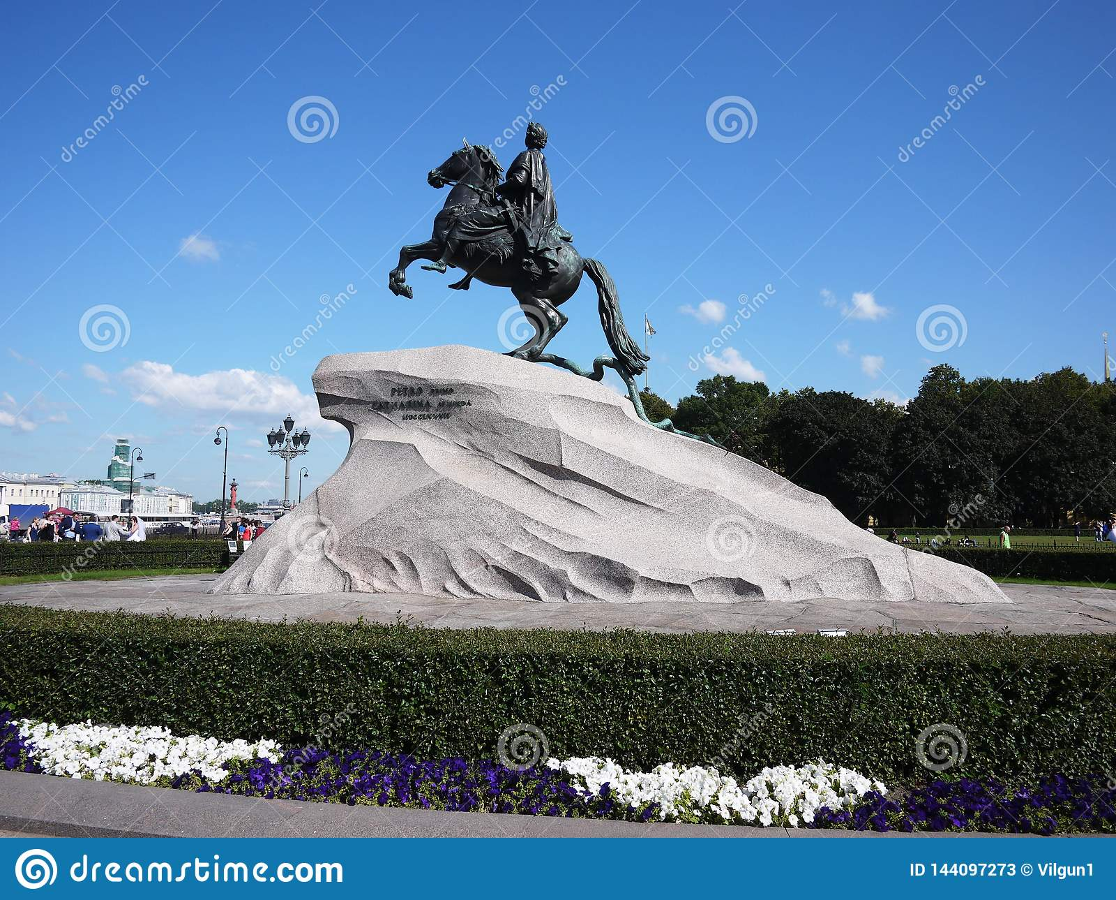 Het Monument van de Bronsruiter in Heilige Petersburg De overzeese hoofdstad van Rusland Details en close-up