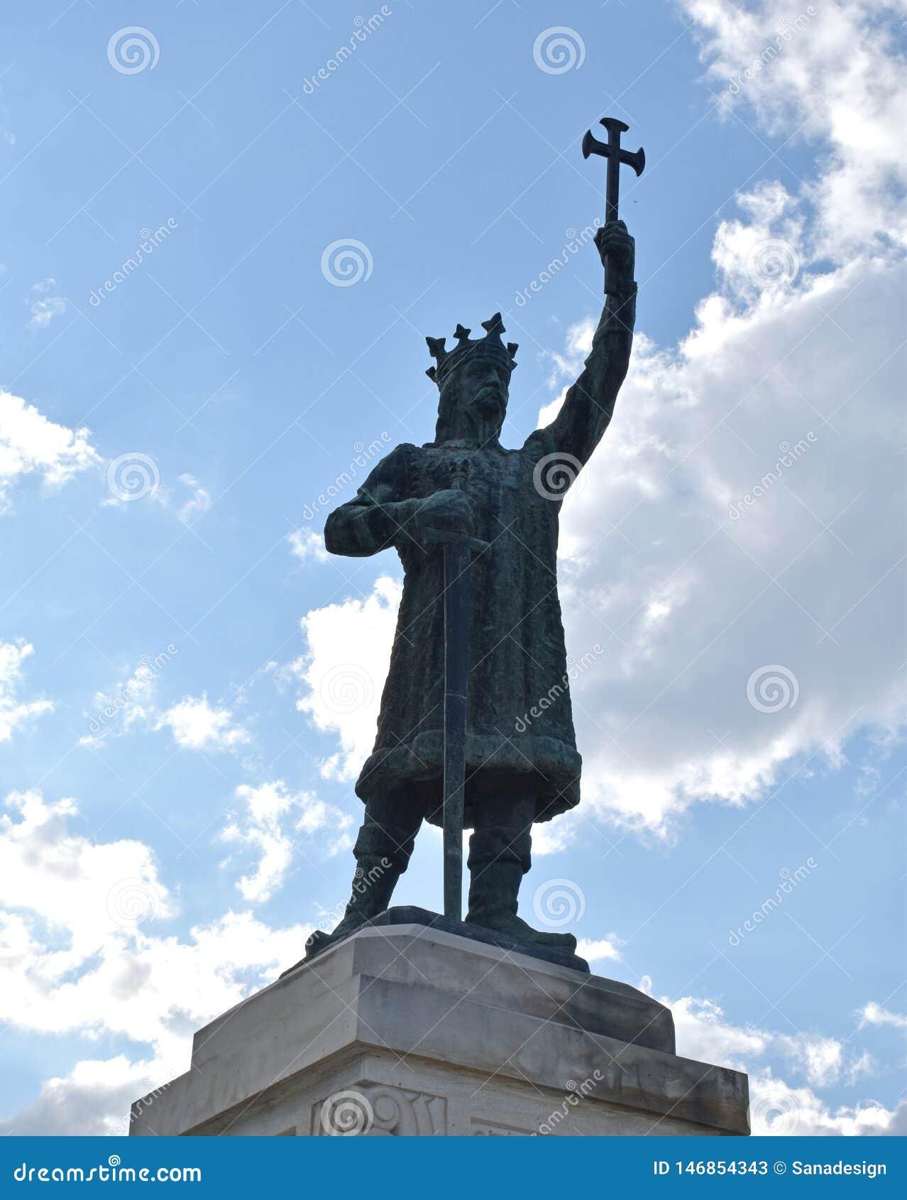 Het monument van de voorraadfoto van de merrie van Stefan cel in chisinau moldova