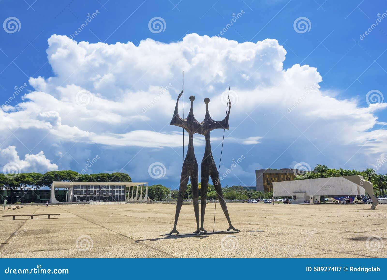 Het Monument van Doiscandangos in Brasilia, Brazilië
