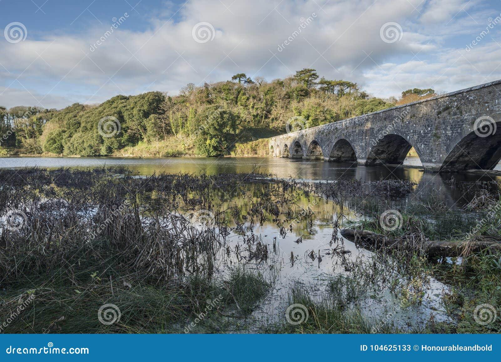 Download Het Mooie Beeld Van Het De Herfstlandschap Van Bosherston-Meren In Pembroke Stock Afbeelding - Afbeelding bestaande uit water, trillend: 104625133