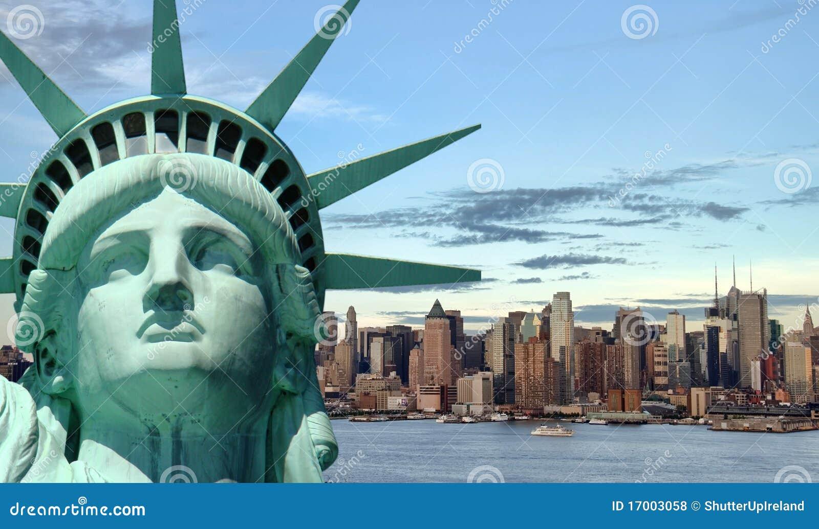 Het mooie concept van de toerismereis voor New York stad