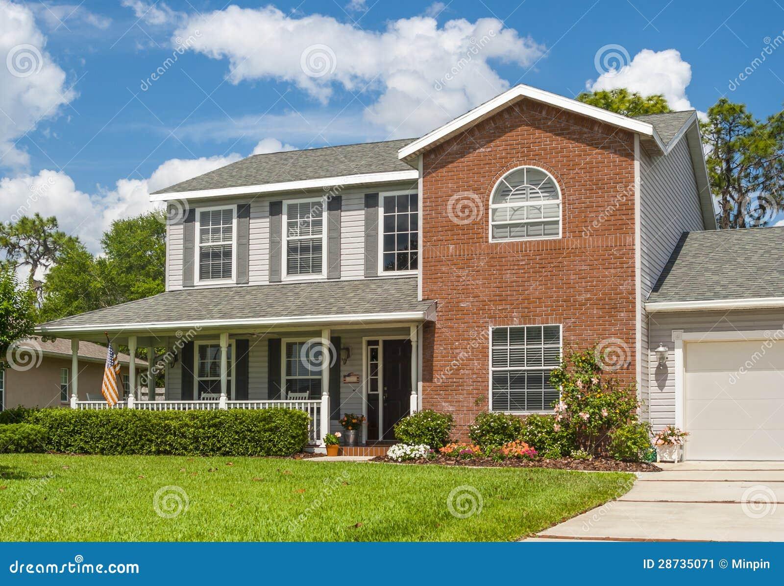 Het mooie huis van de familie stock afbeelding afbeelding 28735071 - Mooie huis foto ...