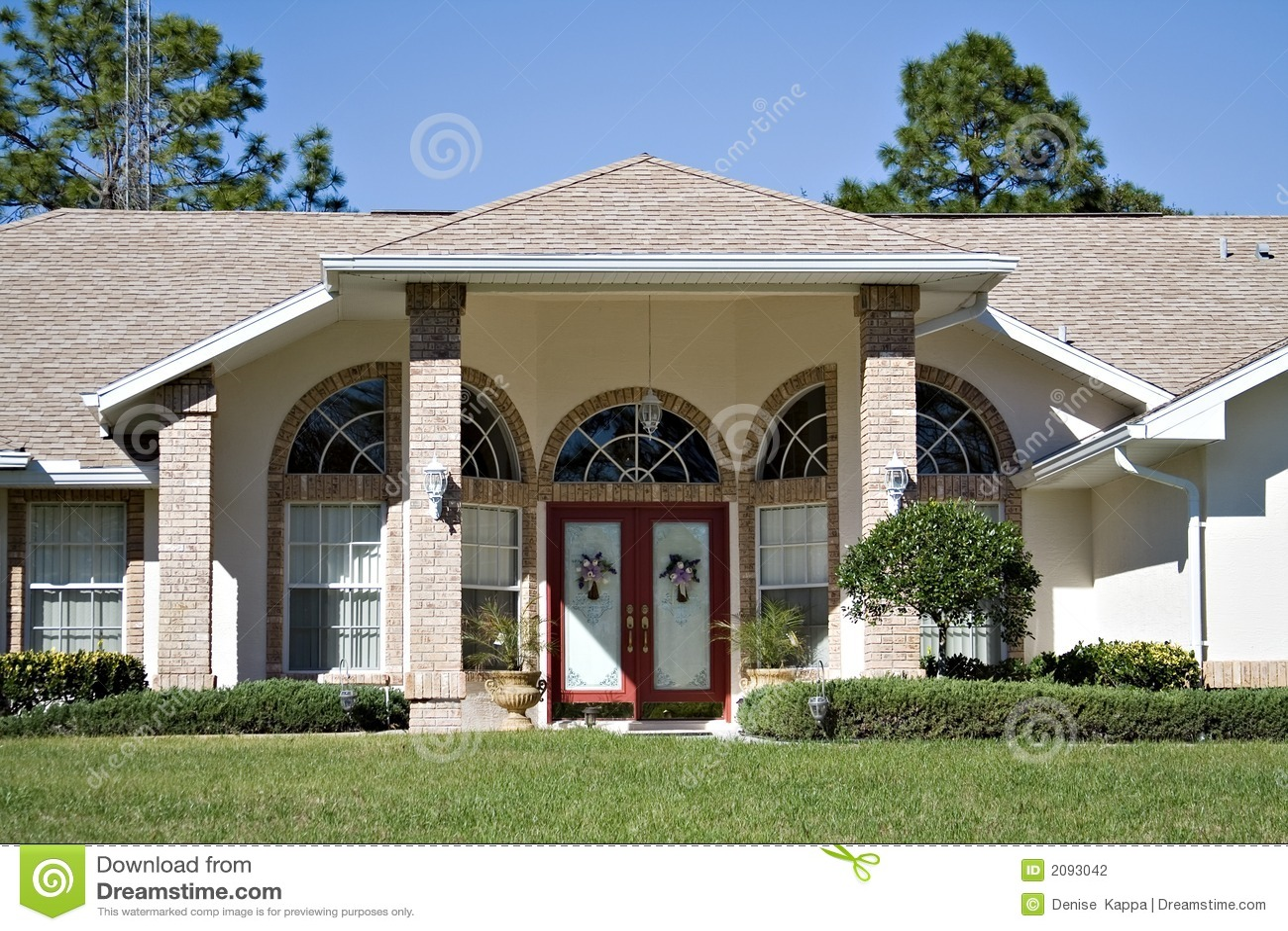 Het mooie huis van florida stock foto. afbeelding bestaande uit