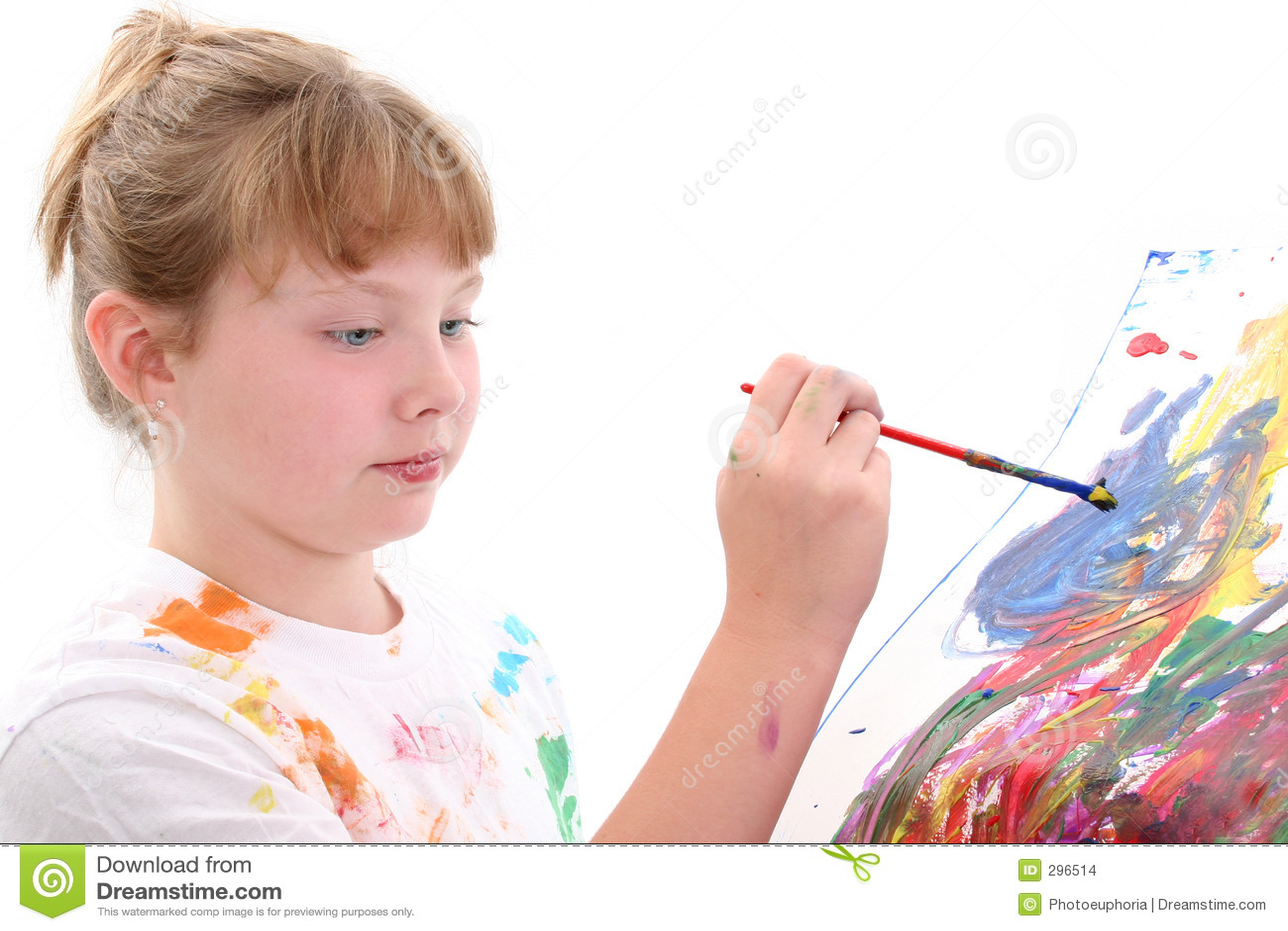 Het mooie Jonge Schilderen van het Meisje