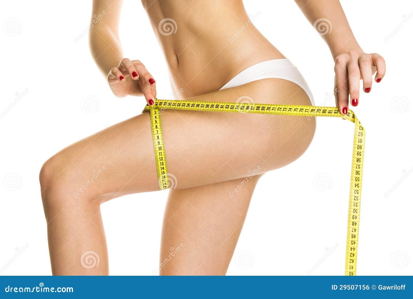 Het mooie lichaam van de meisjesmaatregel