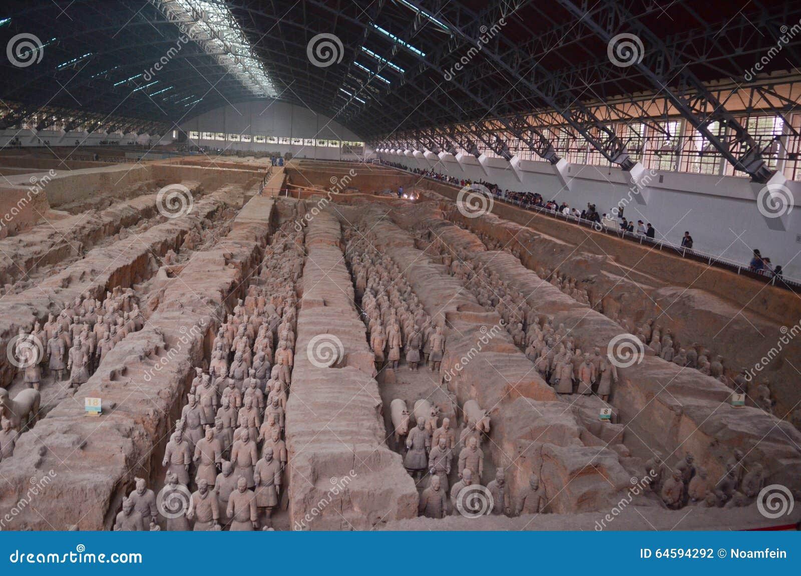 Het museum van terracottastrijders in Xian