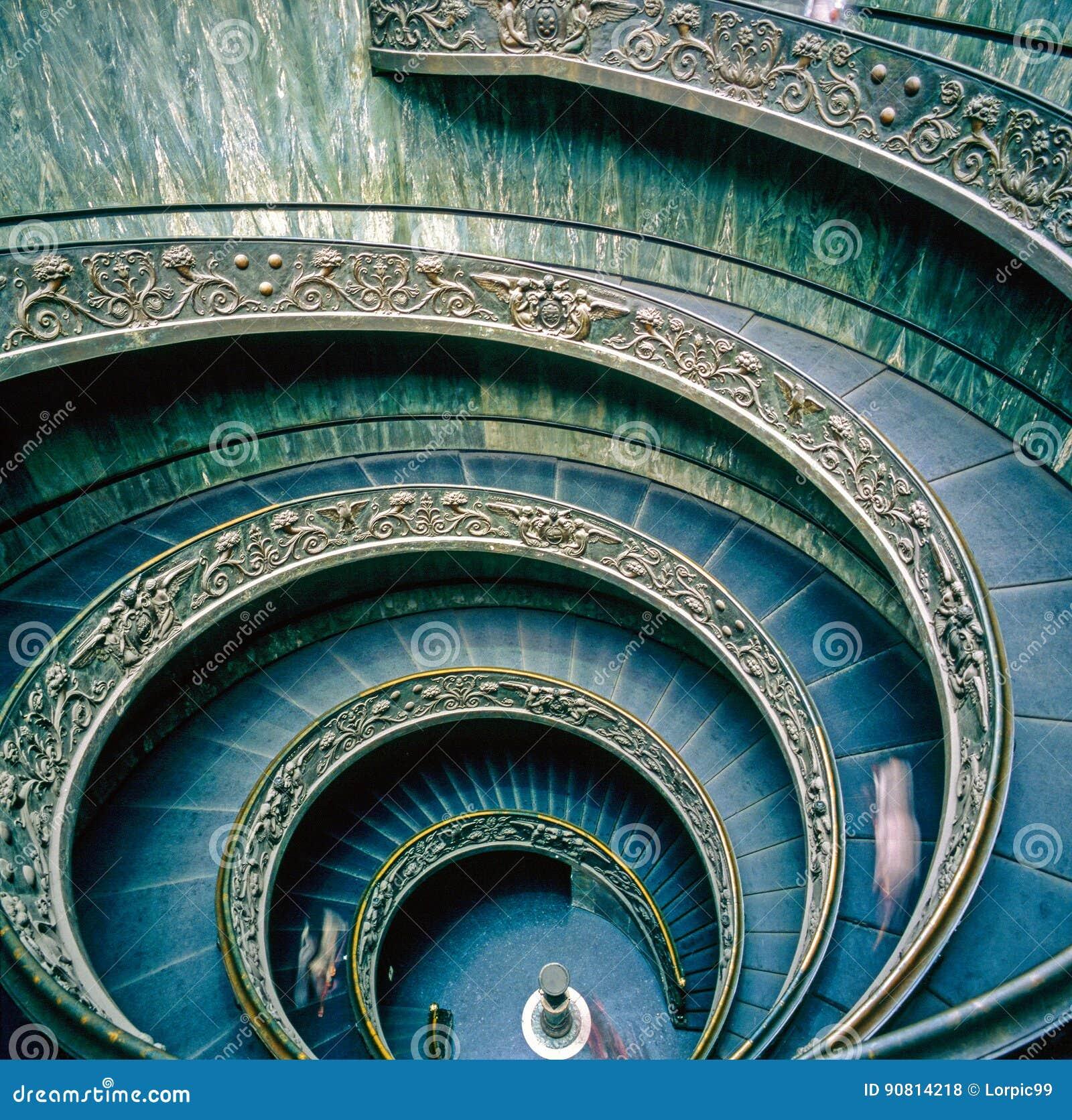 Het Museum van Vatikaan, Spiraalvormige treden