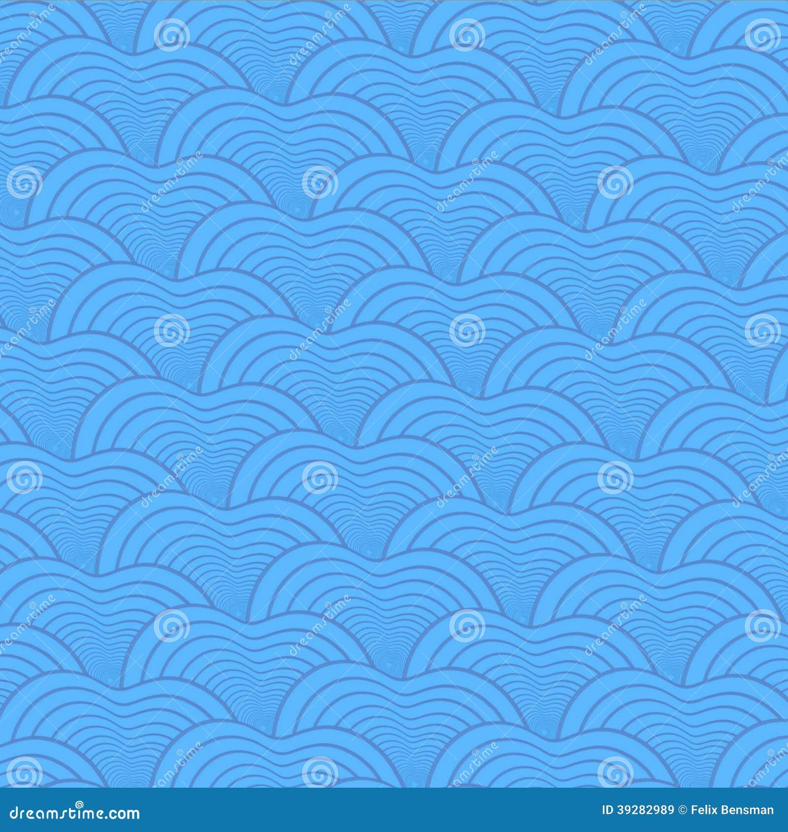 Het naadloze abstracte patroon van de vissenschaal