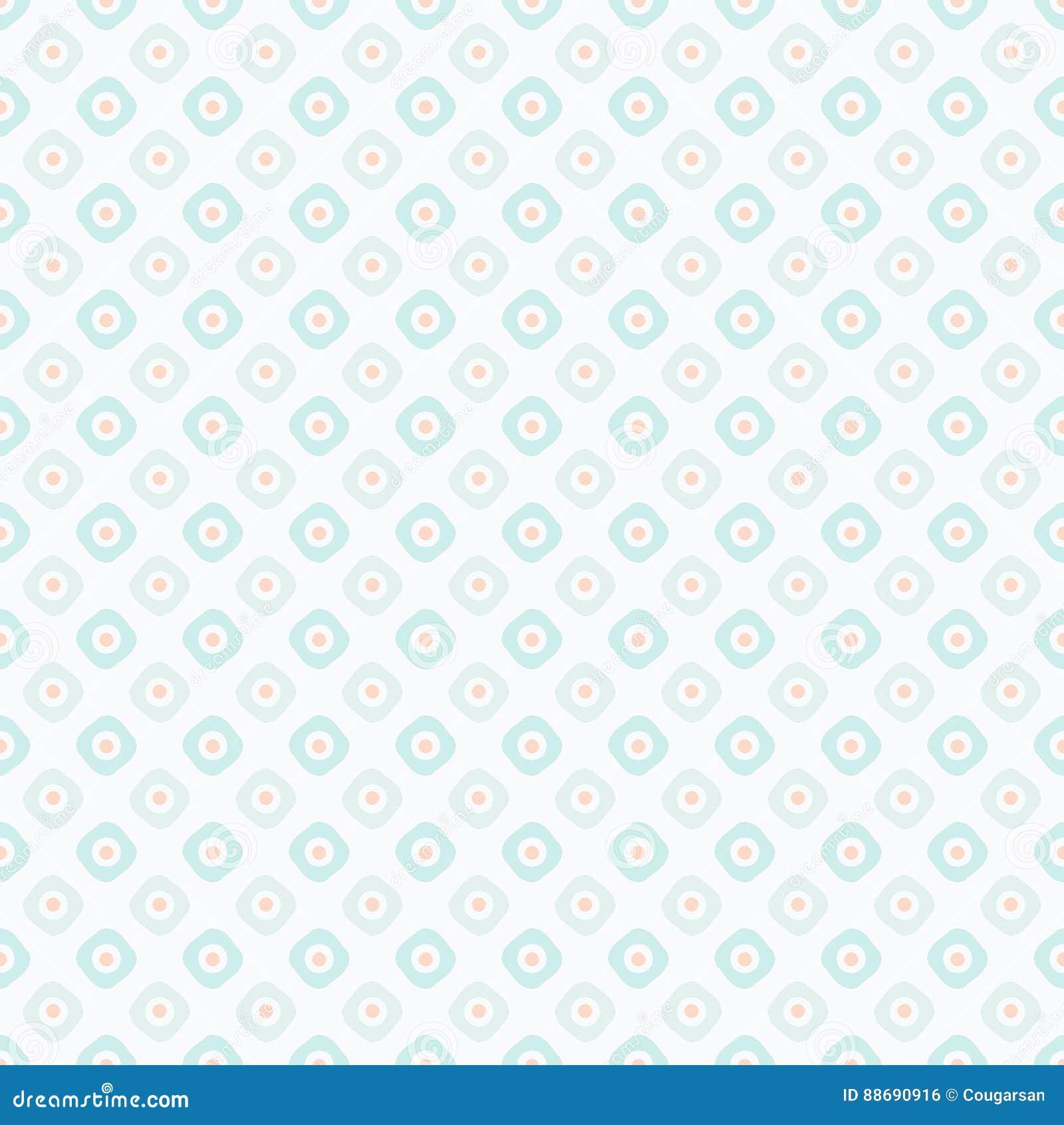 Behang Pastel Groen.Het Naadloze Behang Van Het Pastelkleur Roze En Groene Retro