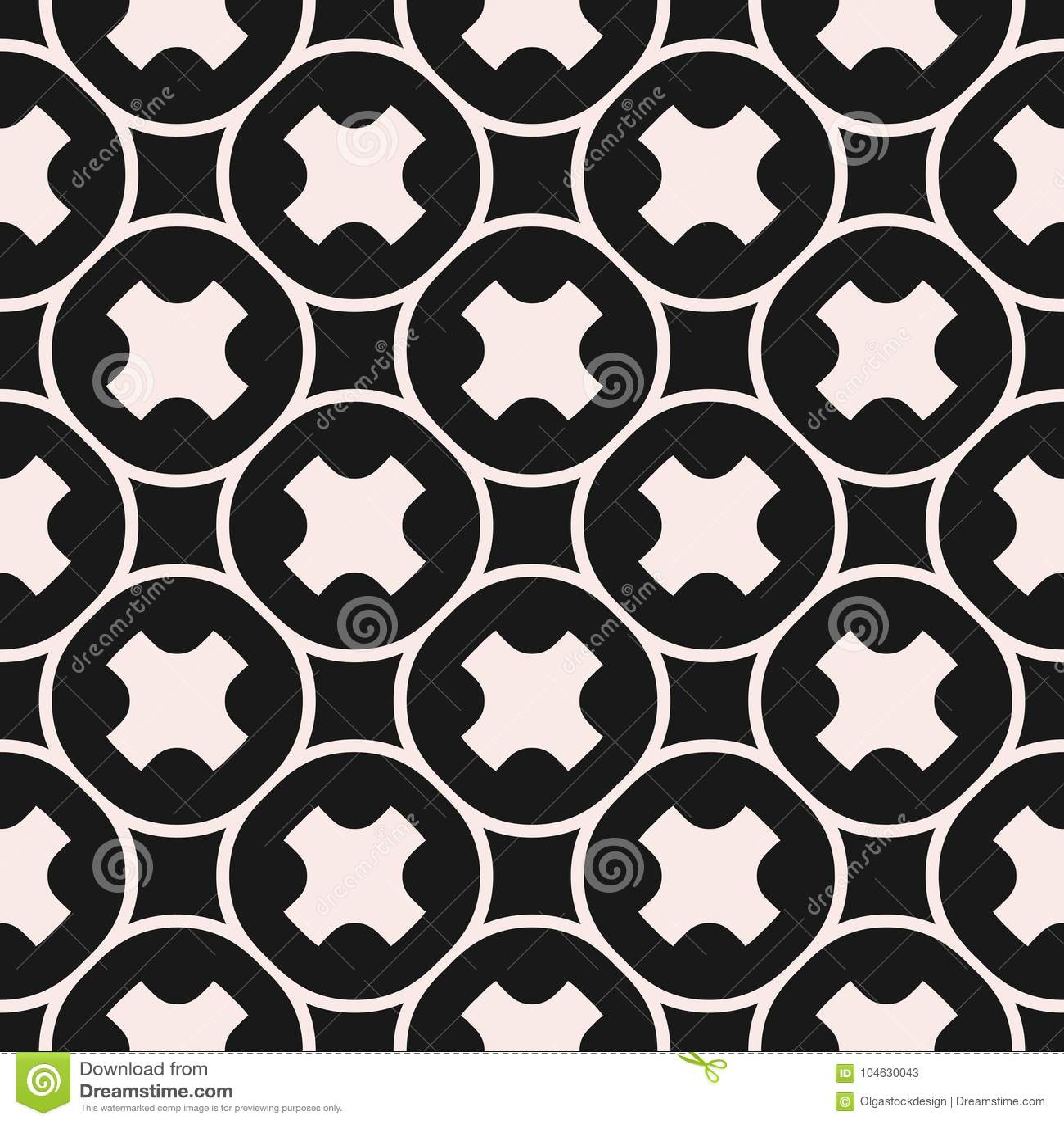 Download Het Naadloze Patroon, Geometrische Textuur, Maakt Kruisen, Cirkelnet Glad Vector Illustratie - Illustratie bestaande uit achtergrond, zwart: 104630043