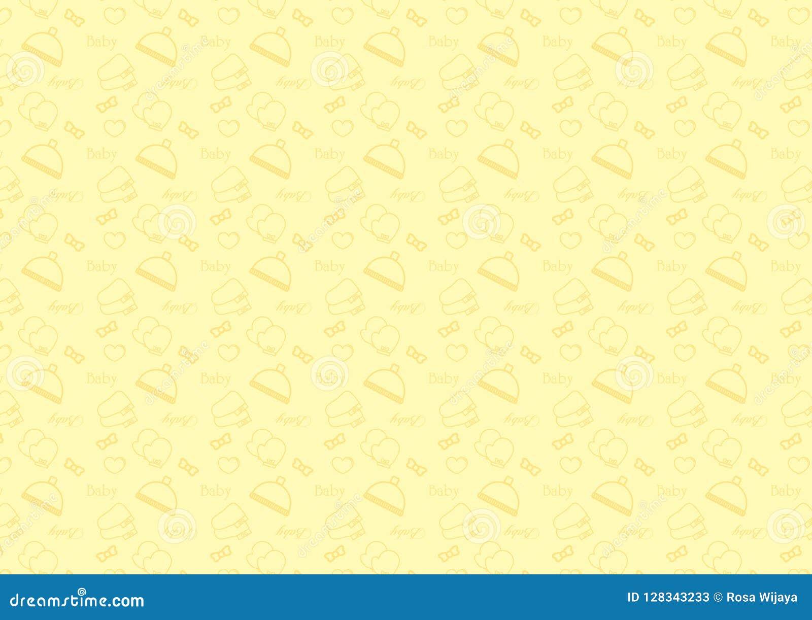 Het naadloze patroon in het pictogram van de lijnstijl met babytoebehoren als thema heeft volledig editable resizable vector in z