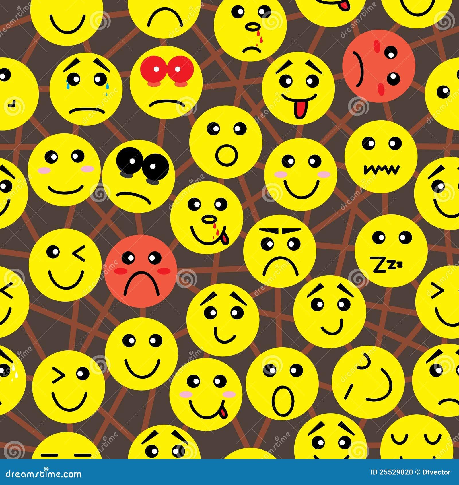Het Naadloze Patroon van de Aansluting van de emotie