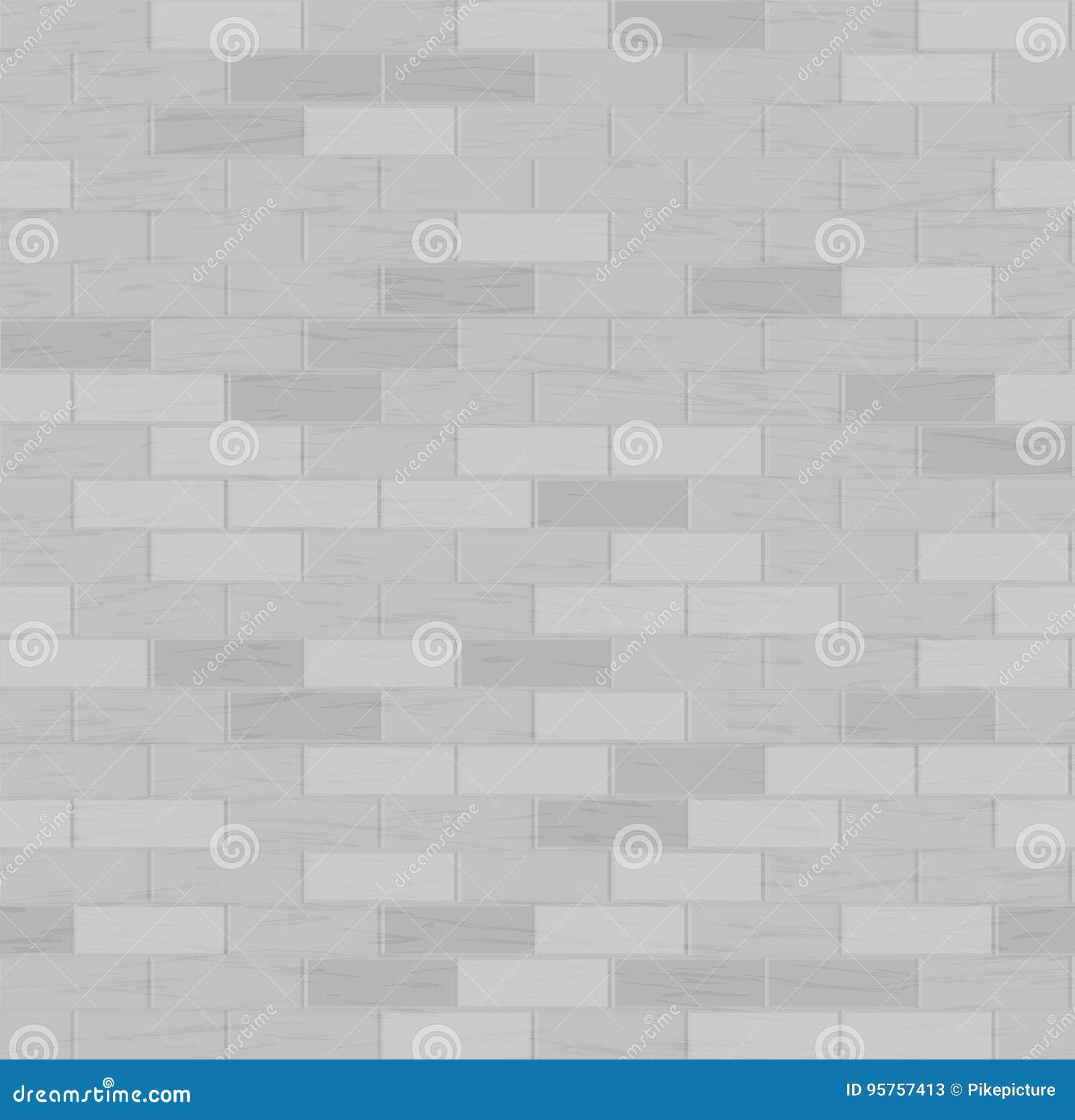 Het naadloze patroon van de baksteen Vector illustratie Grijze kleur Het element van het ontwerp Achtergrond textuur