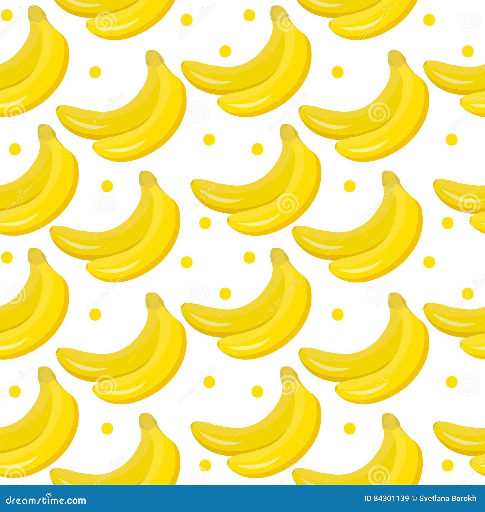 Het naadloze patroon van de banaan eindeloze achtergrond, textuur Vruchten achtergrond