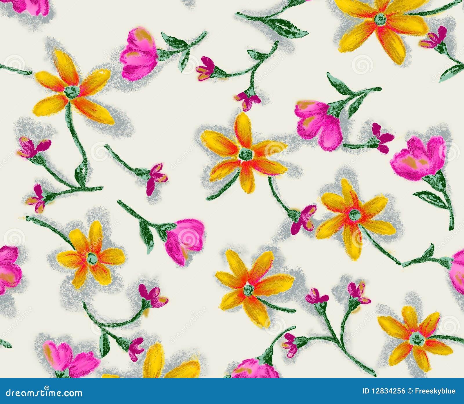 Het naadloze patroon van de bloem