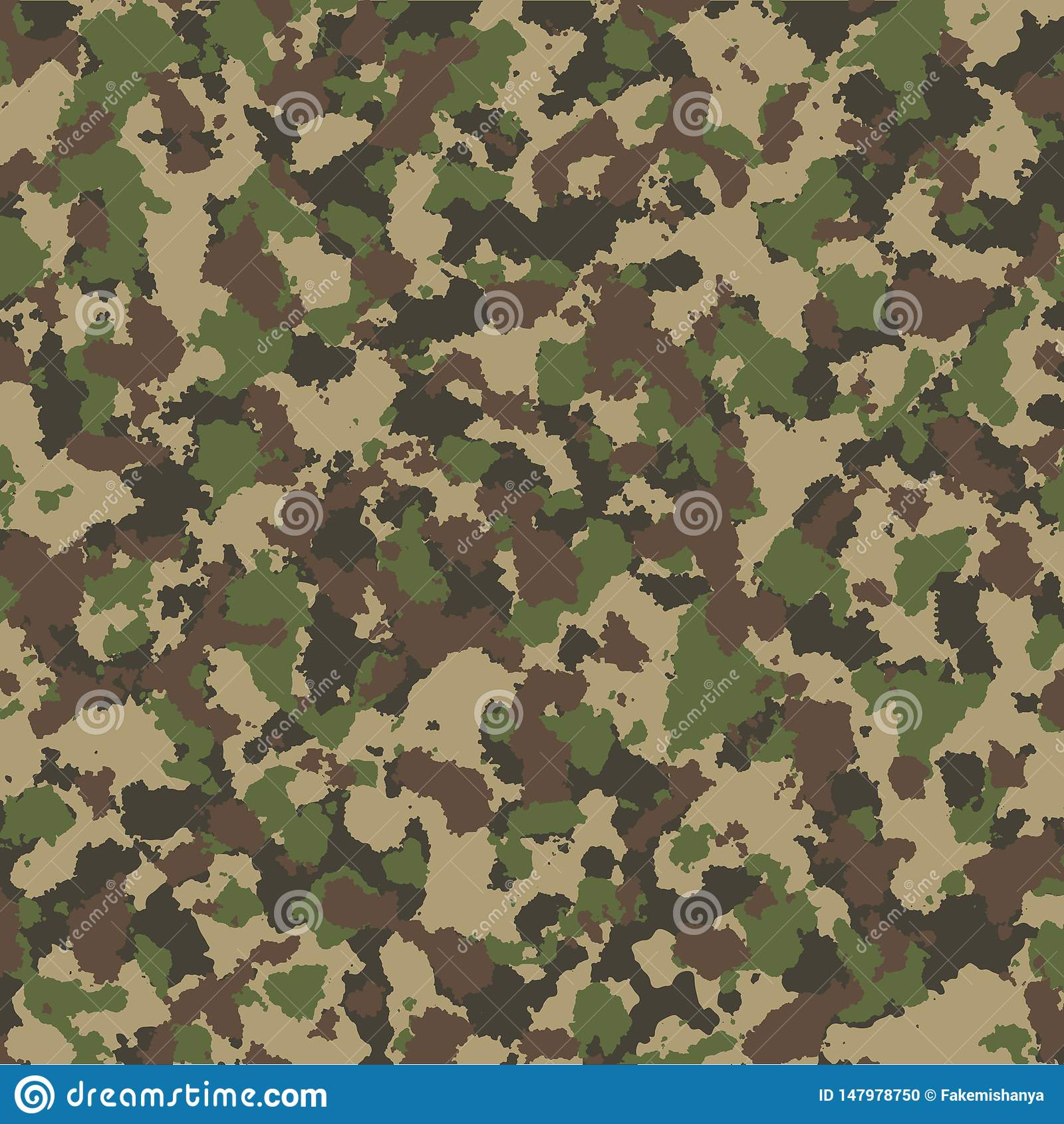 Het naadloze patroon van de camouflage Het kan voor prestaties van het ontwerpwerk noodzakelijk zijn