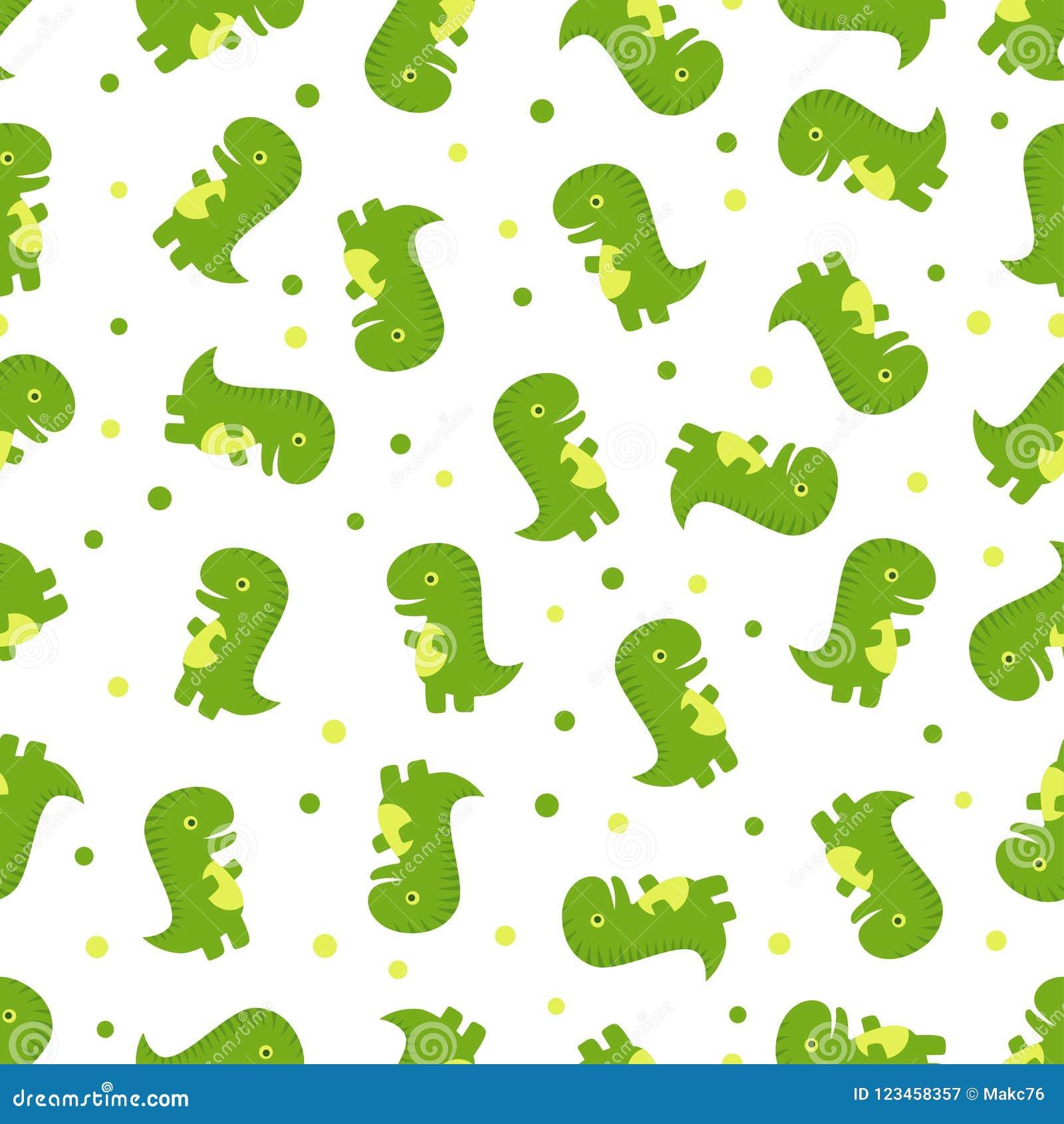Het naadloze patroon van de Dinosaurus