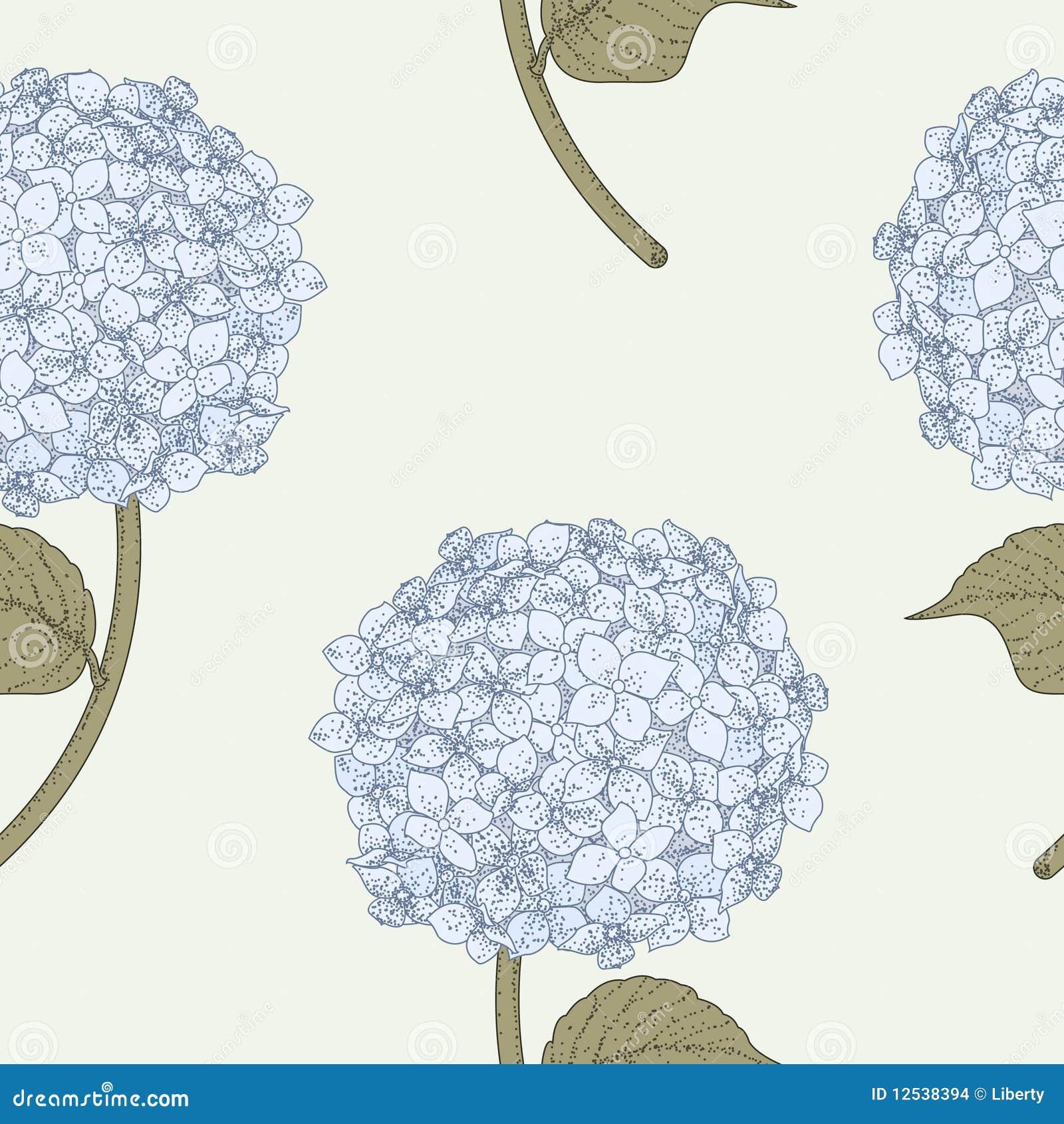 Het Naadloze Patroon van de hydrangea hortensia